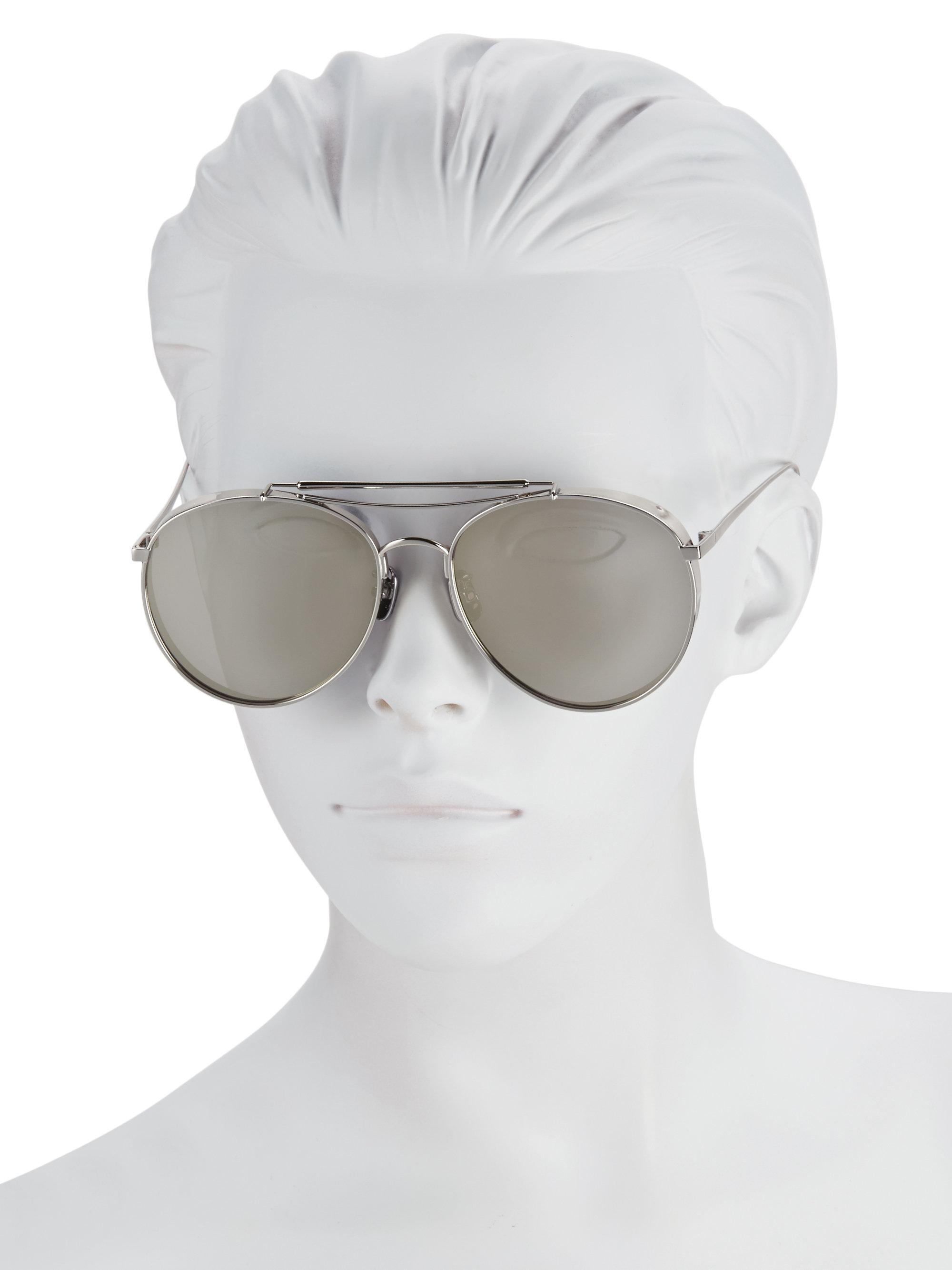 bbb0776b59 Lyst - Gentle Monster 56mm Big Bully Aviator Sunglasses in Gray
