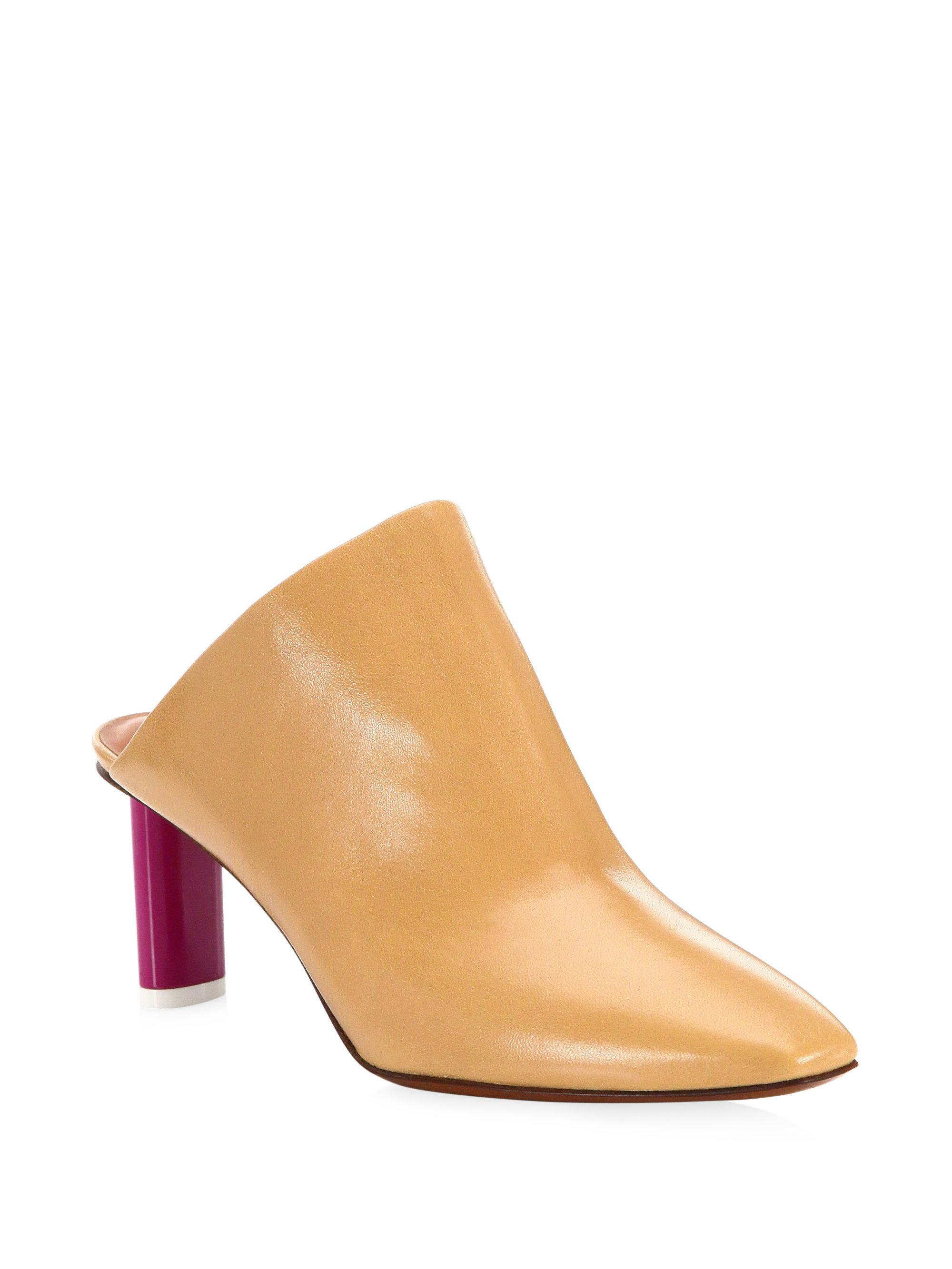 Vetements Two-Toned Leather Mules 1CXZV