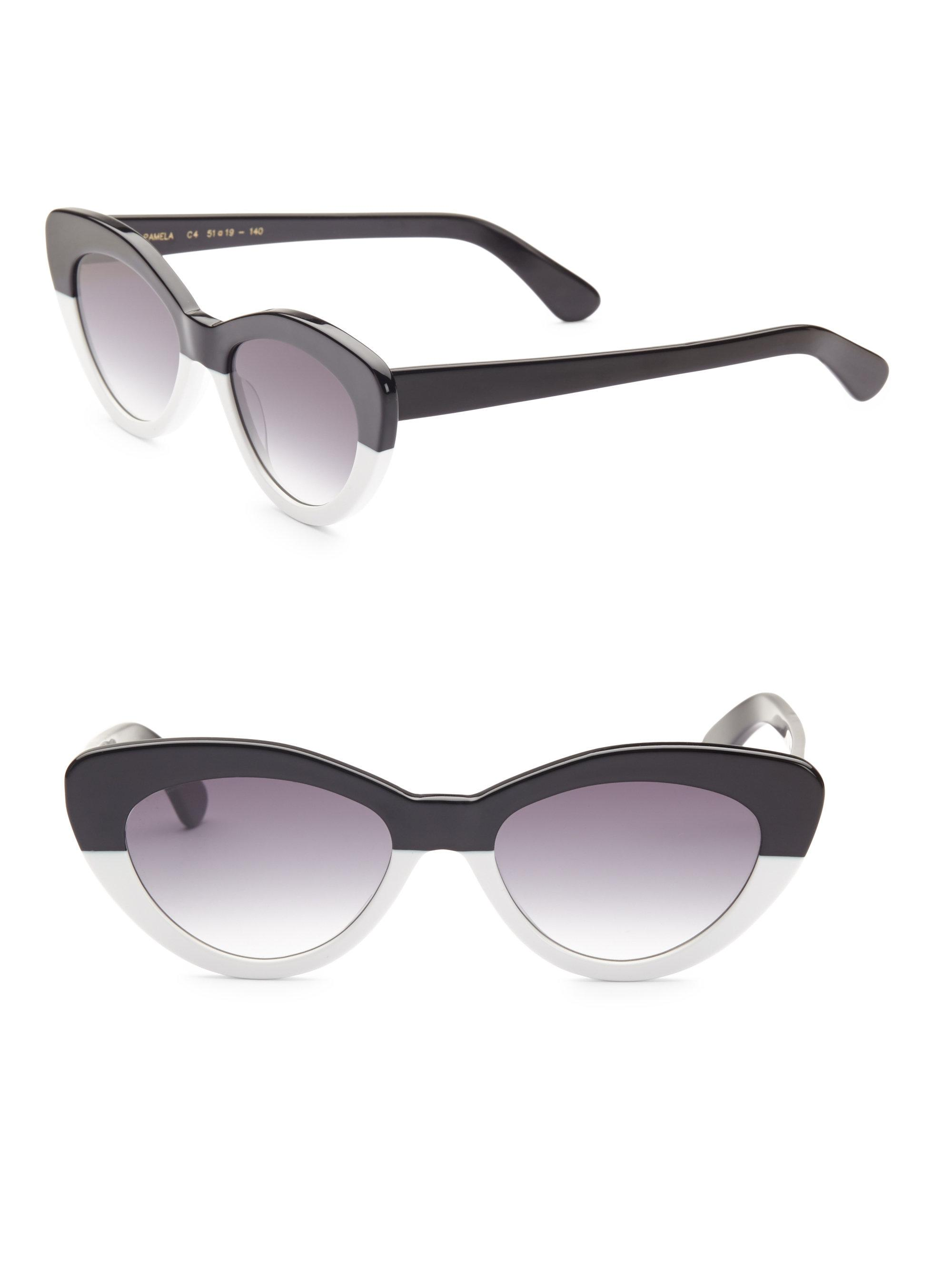 Pamela Cat-eye Acetate Sunglasses - White Illesteva uqtUGNwNn