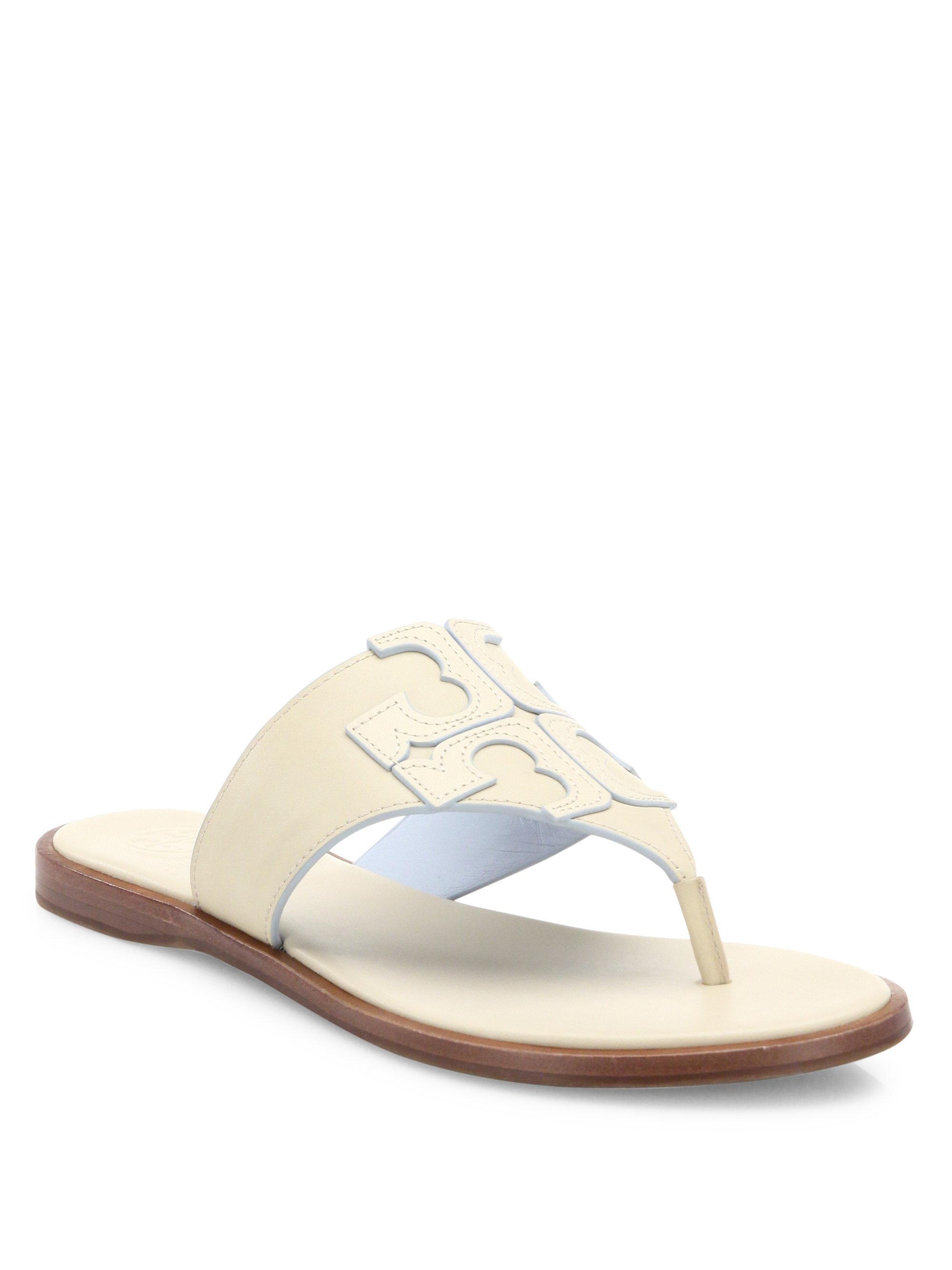 d95d2f91675b Lyst - Tory Burch Jamie Logo Thong Sandals
