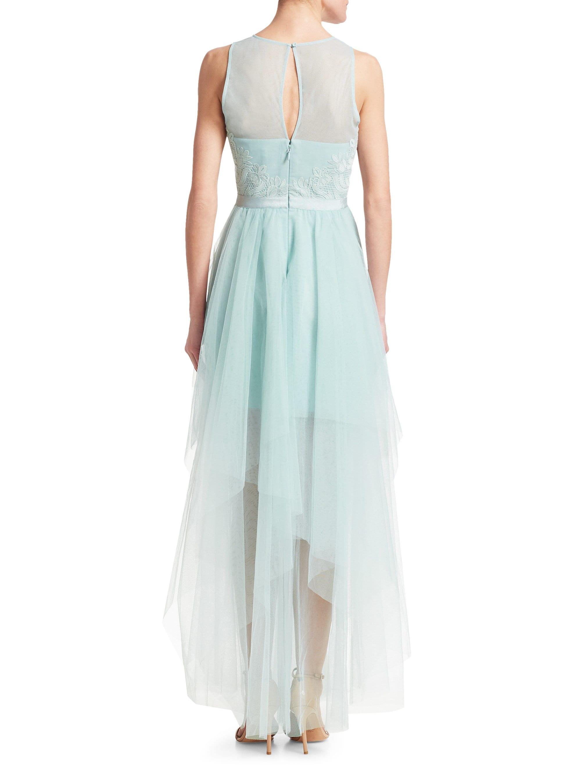 a44d69ba BCBGMAXAZRIA Tiered Crepe & Georgettegown in Blue - Lyst