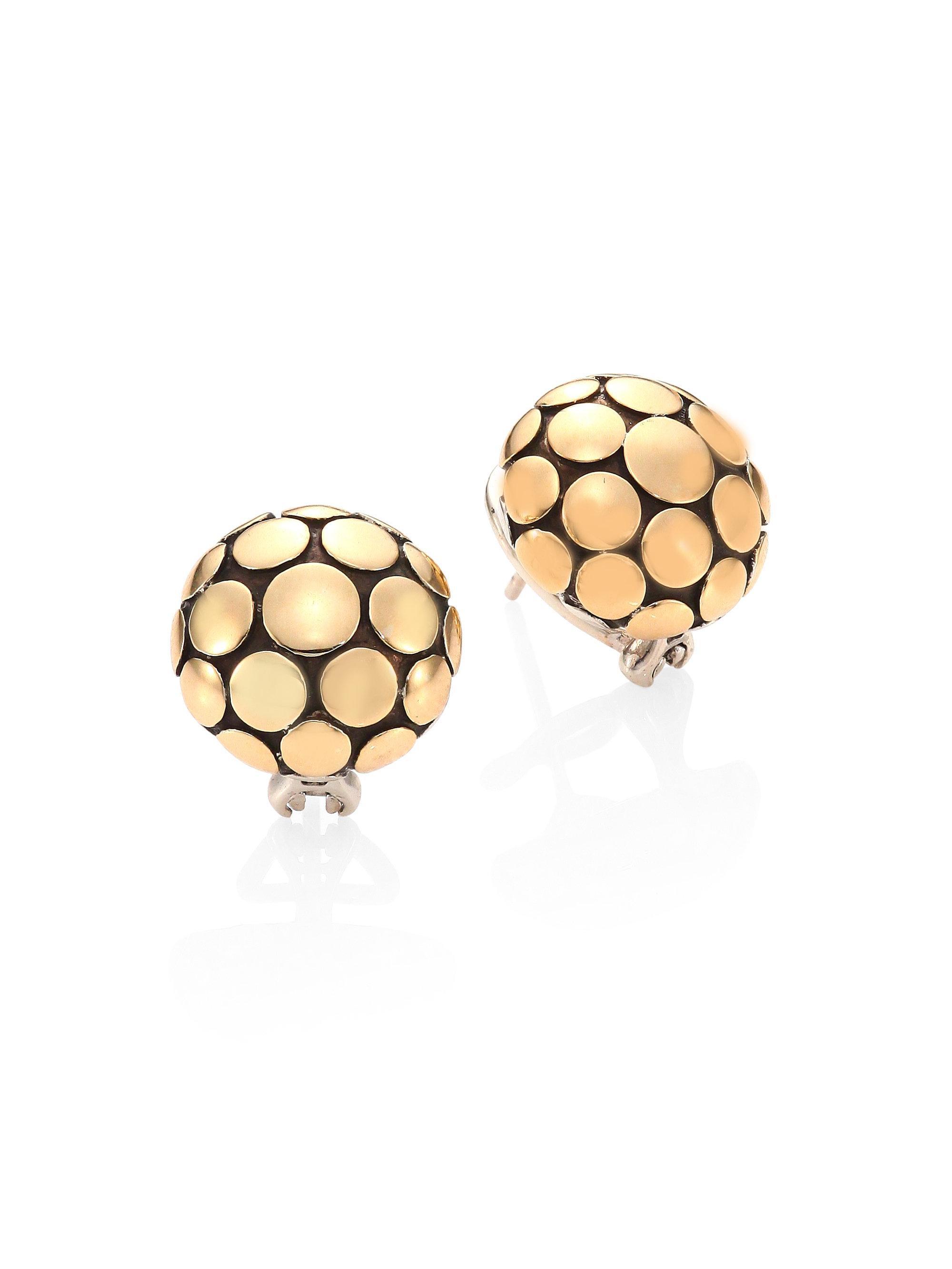 John Hardy Button Earring 3oUxc