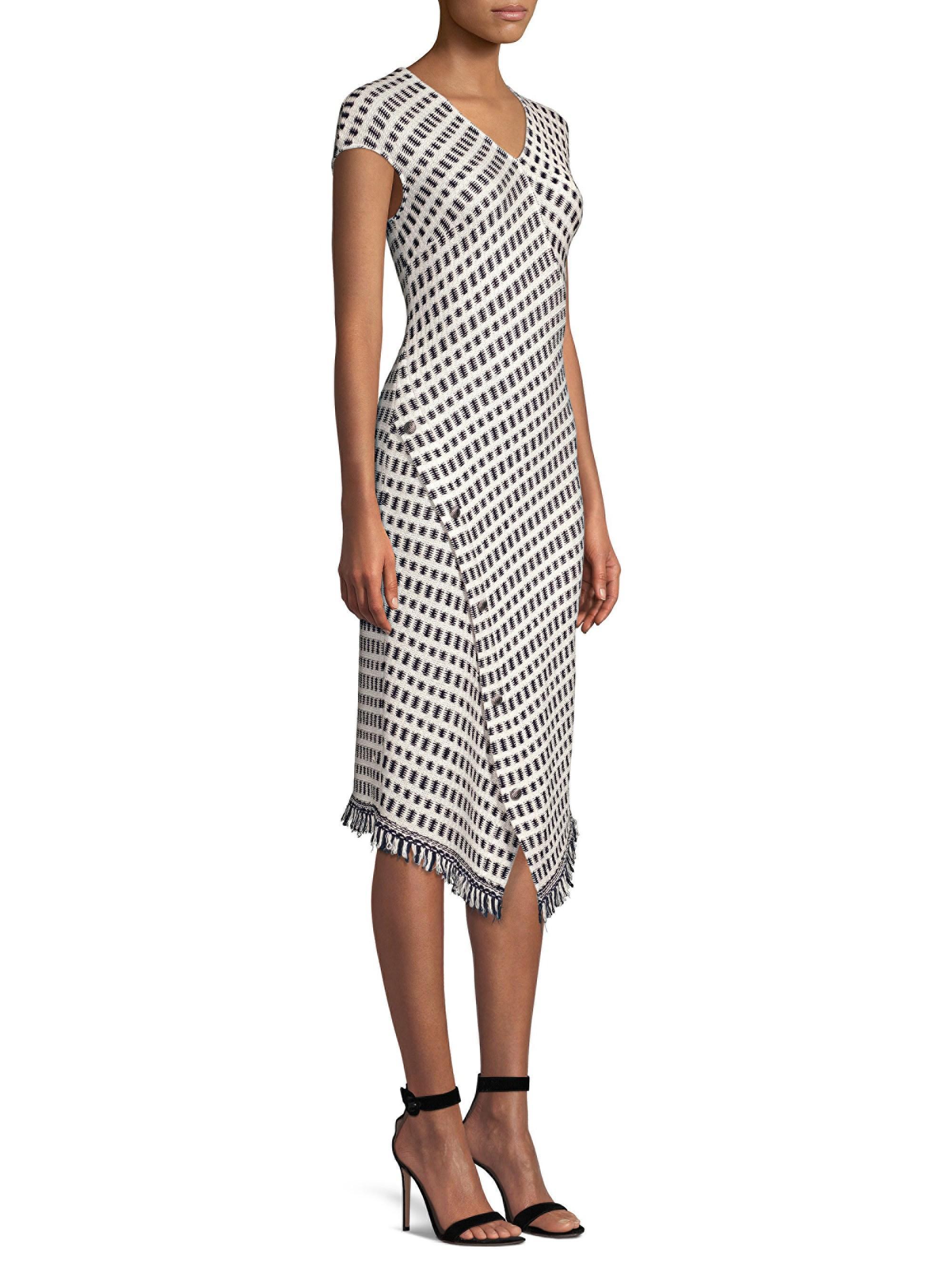 de00a6e0 St. John. Black Women's Jacquard Wrap-hem Dress - Size 4. $1,195 $478 From Saks  Fifth Avenue