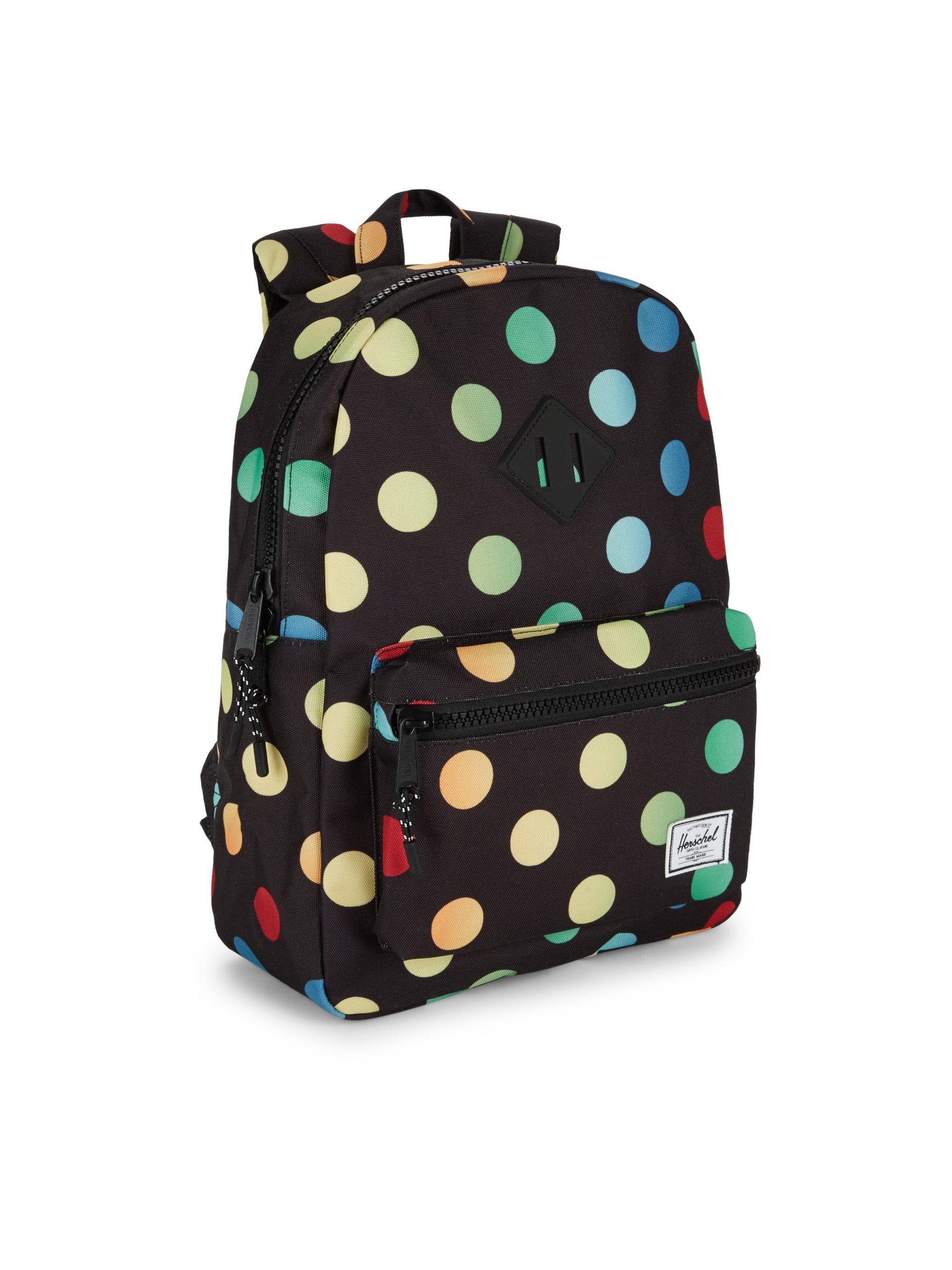 Herschel Supply Co. Kid s Heritage Youth Polkadot Backpack in Black ... 5b968264b1131