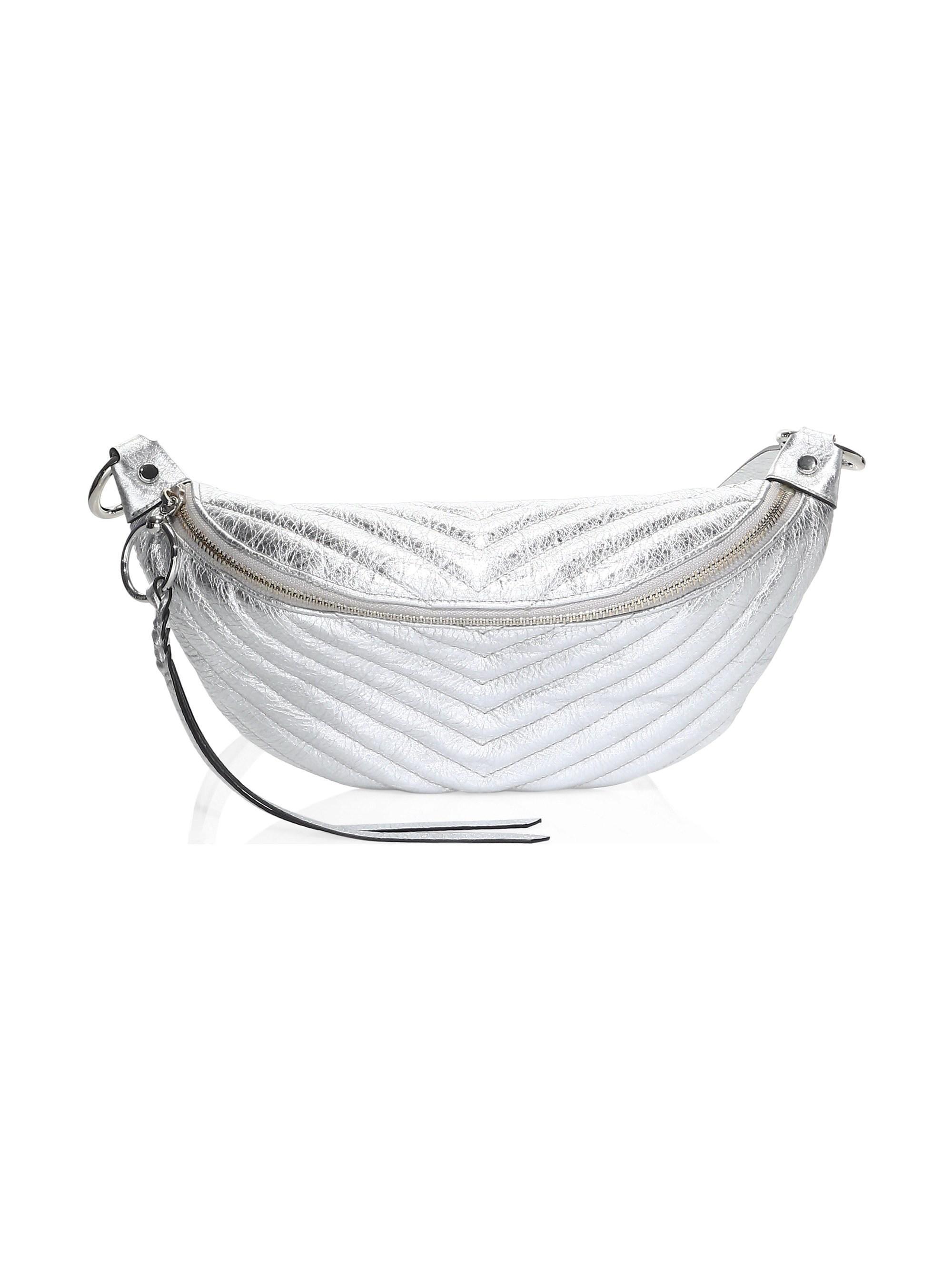 e2cbd45b7 Rebecca Minkoff. Women s Edie Quilted Leather Metallic Sling Bag ...