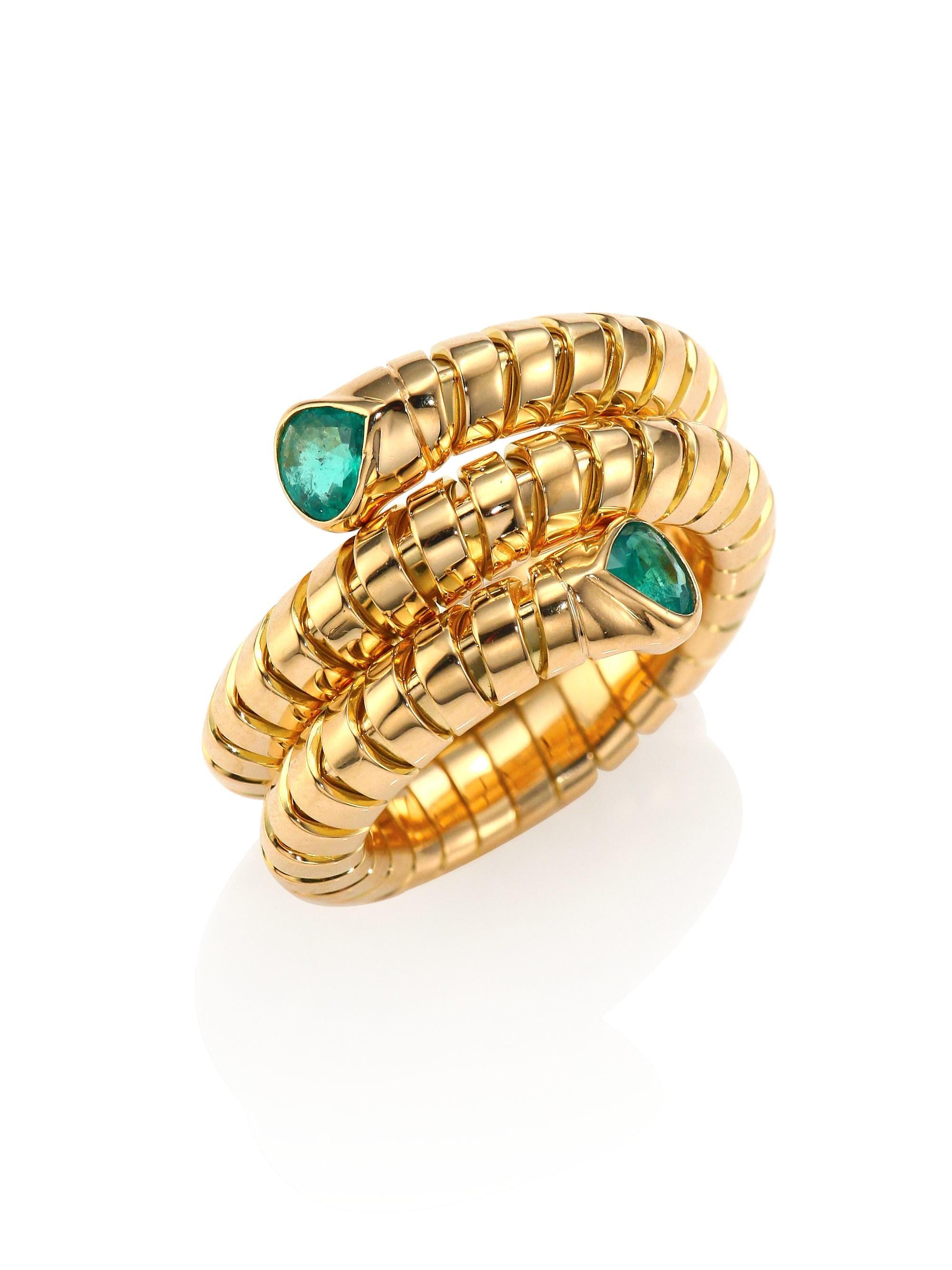 d681d8220 Marina B Women's Trisola Emerald & 18k Yellow Gold Coil Ring - Gold ...