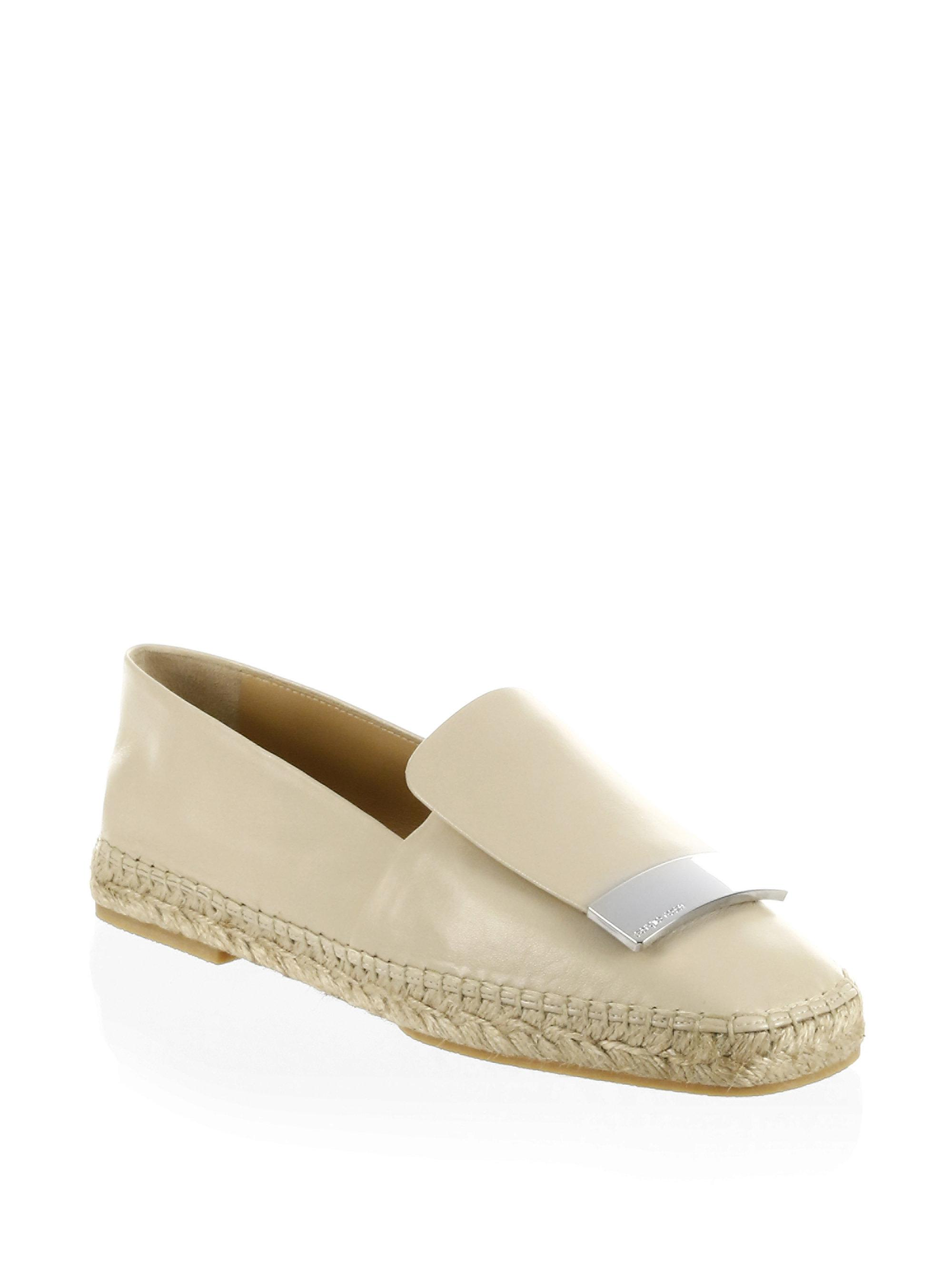 Cheap Price Store Sergio Rossi Leather Espadrilles Sale Sale Online Get Authentic Online qMYO5hk