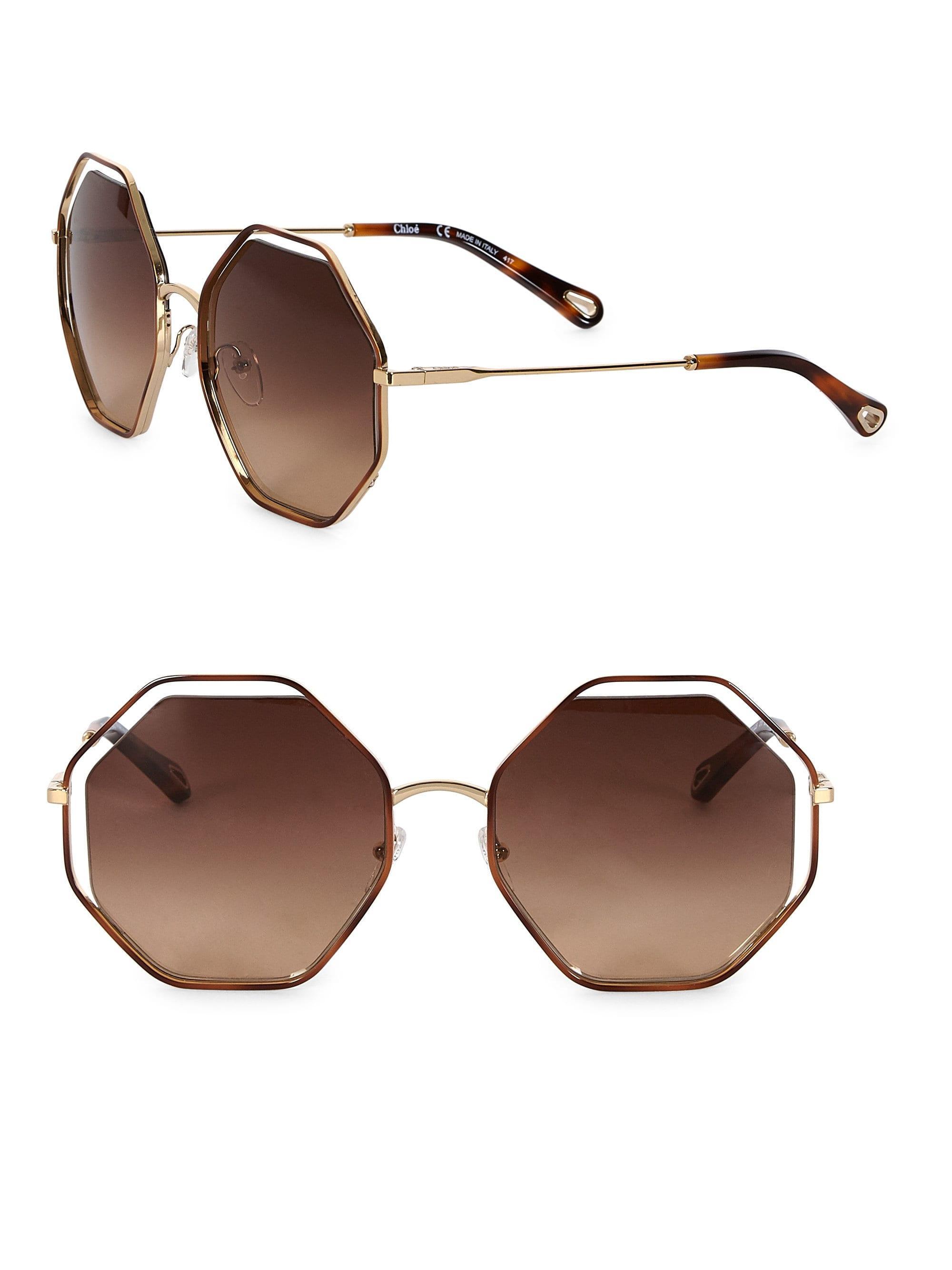 Brown de Poppy Lyst Chloé Gafas sol Octagon xfqR1q