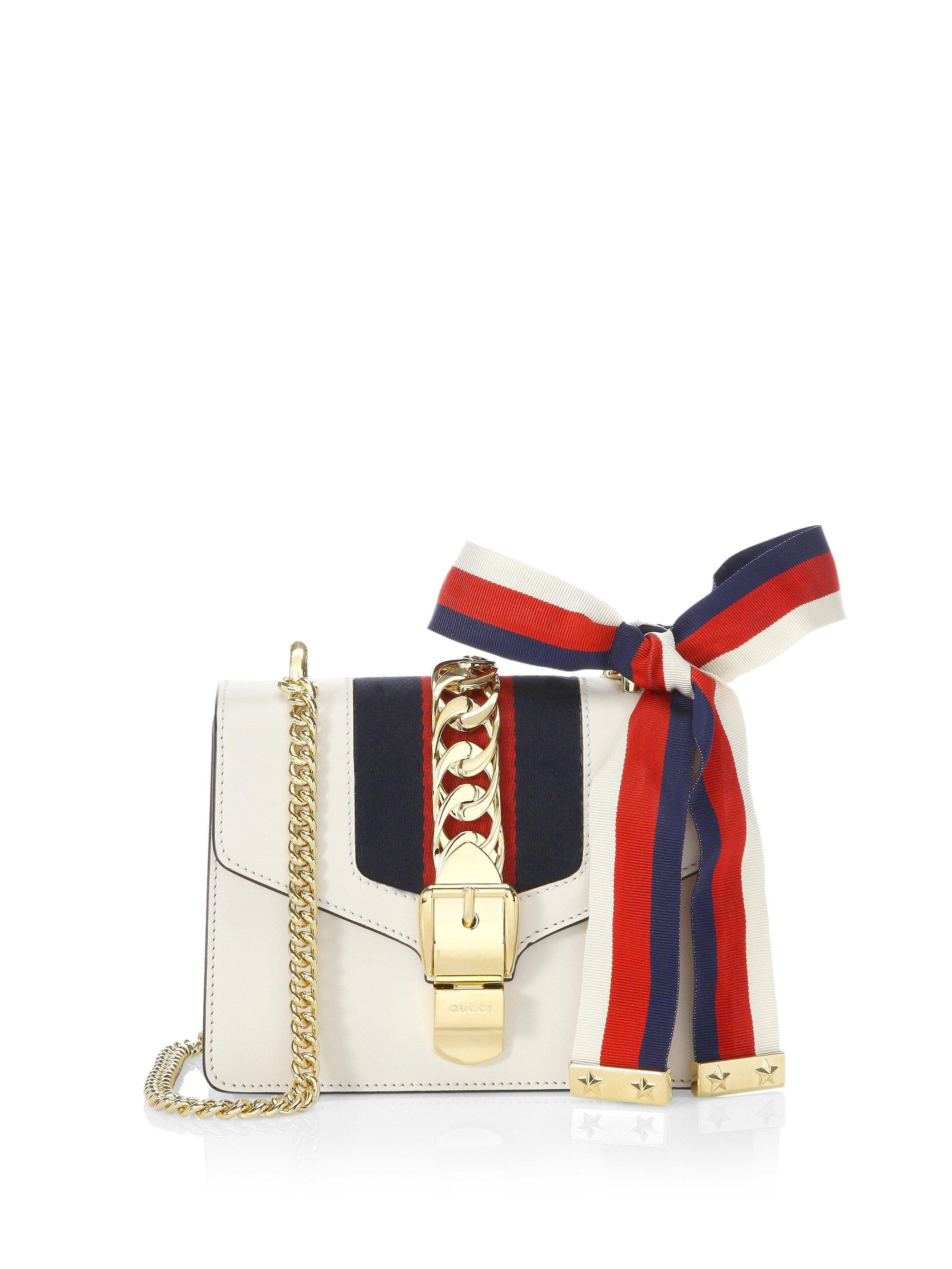 4620ca932610 Gucci Women's Sylvie Leather Mini Chain Bag - Red in Red - Lyst