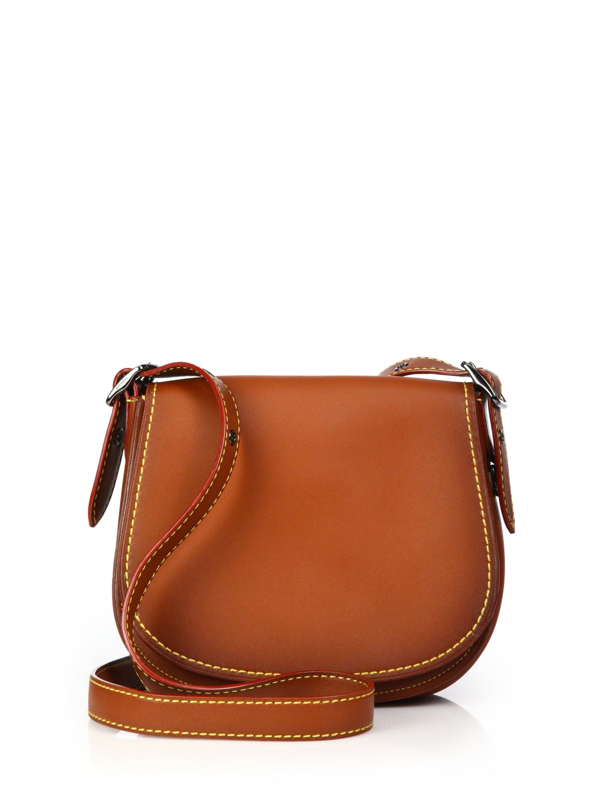 COACH Leather Saddle Bag in Brown - Lyst