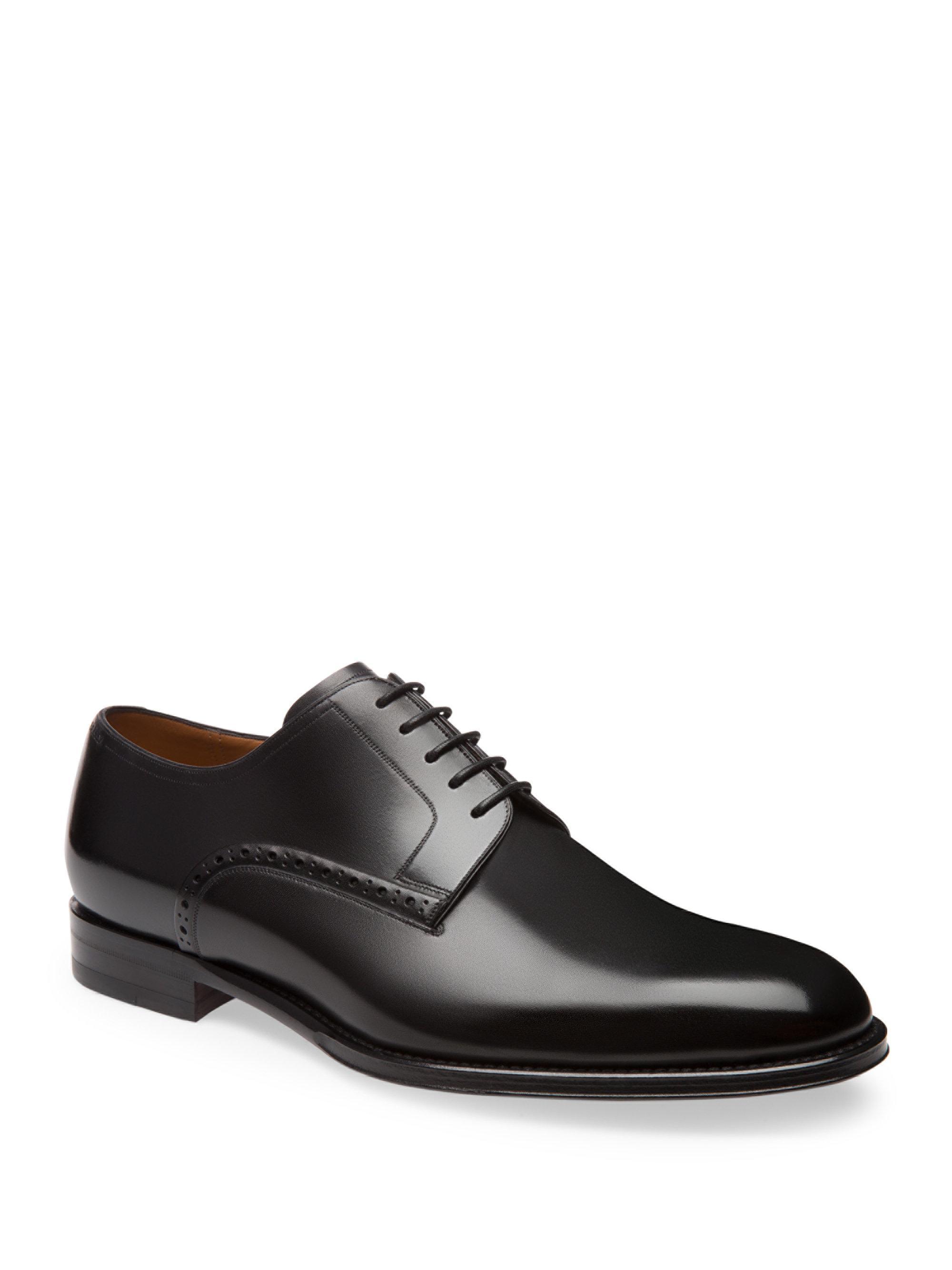 Plas Black, Mens plain calf leather oxford shoe in black Bally