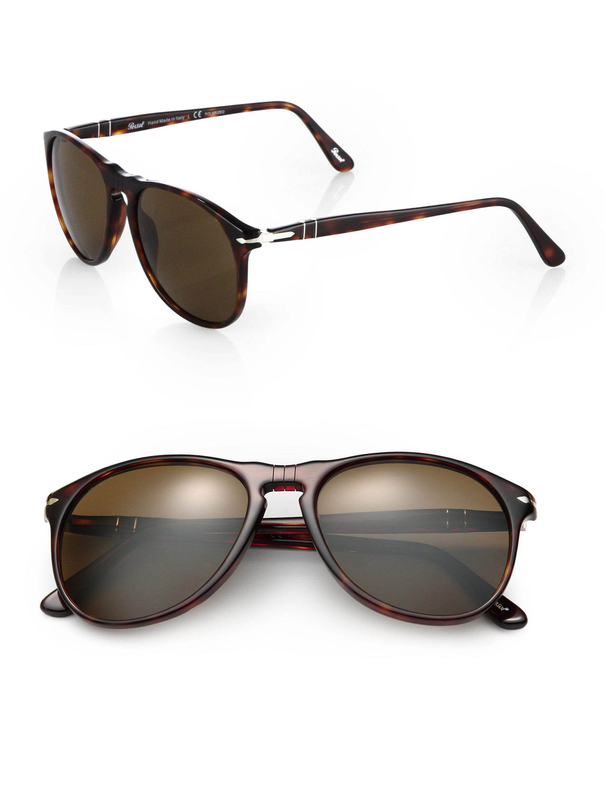 d445a25cdc421 Lyst - Persol 55mm Suprema Round Sunglasses in Brown for Men