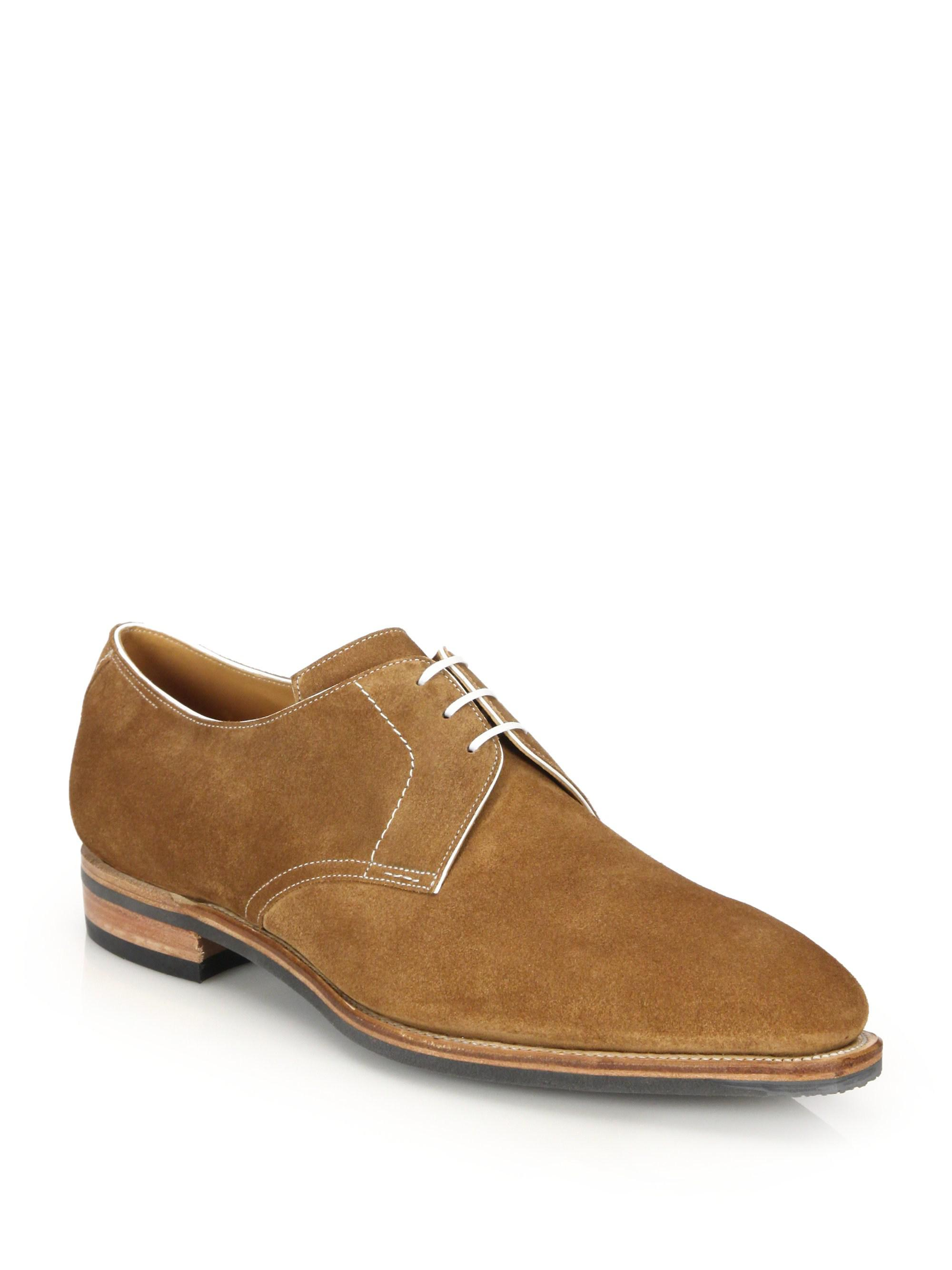 CORTHAY Sergio Pullman Lace-Up Suede Derby Shoes
