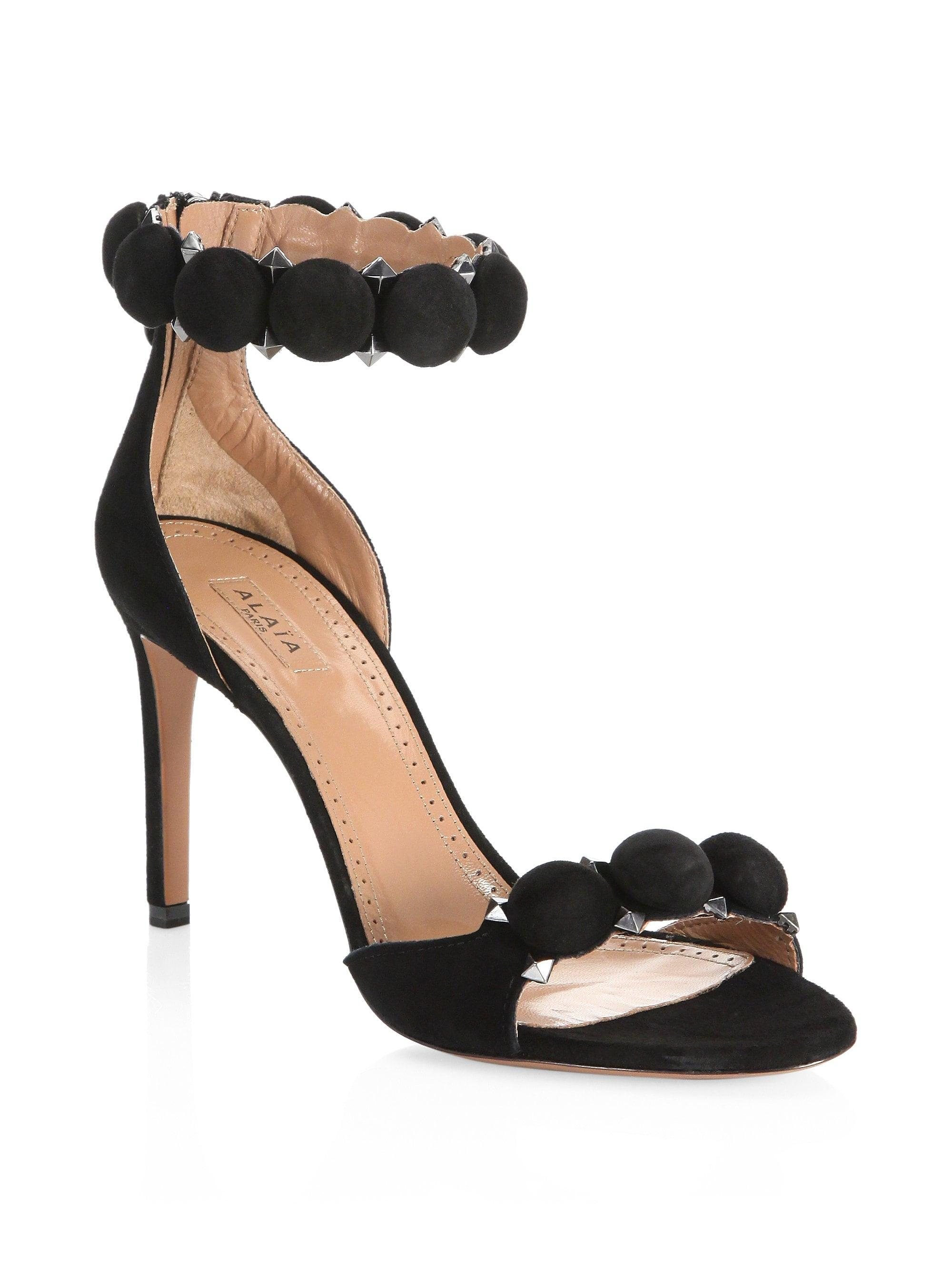 alaia bombe studded sandals