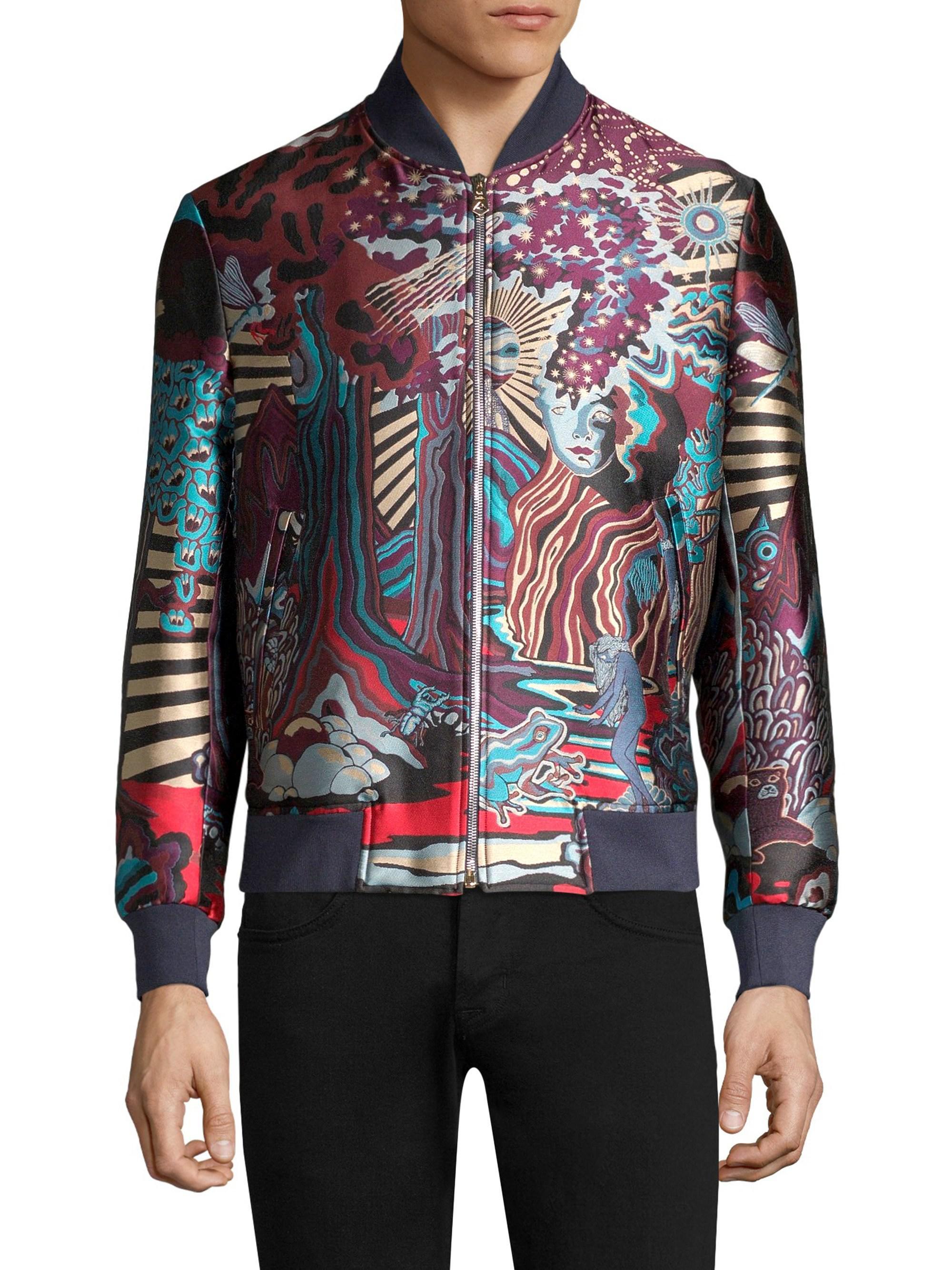013c289f5 Paul Smith Dreamer Print Bomber Jacket for Men - Lyst