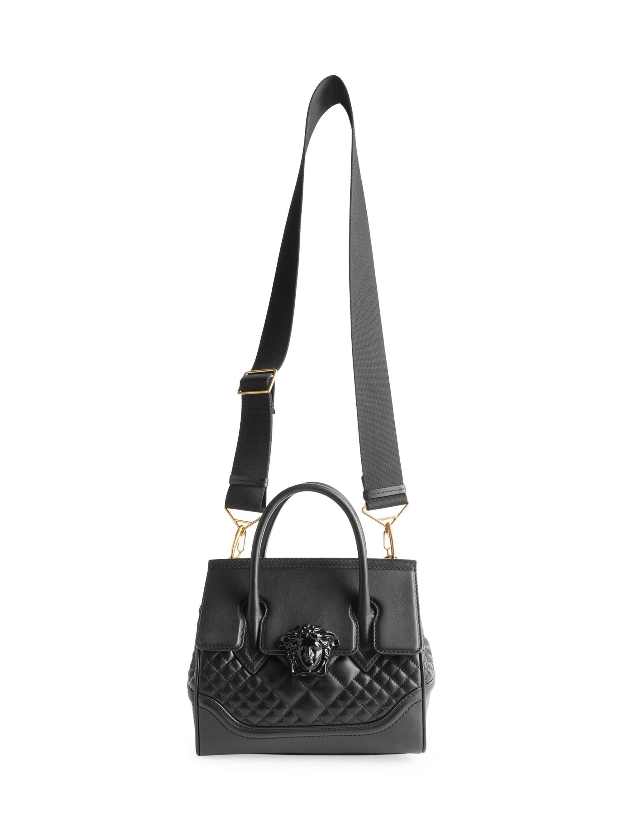 Lyst - Versace Quilted Palazzo Empire Top Handle Bag in Black 1e8acd19e9fcb