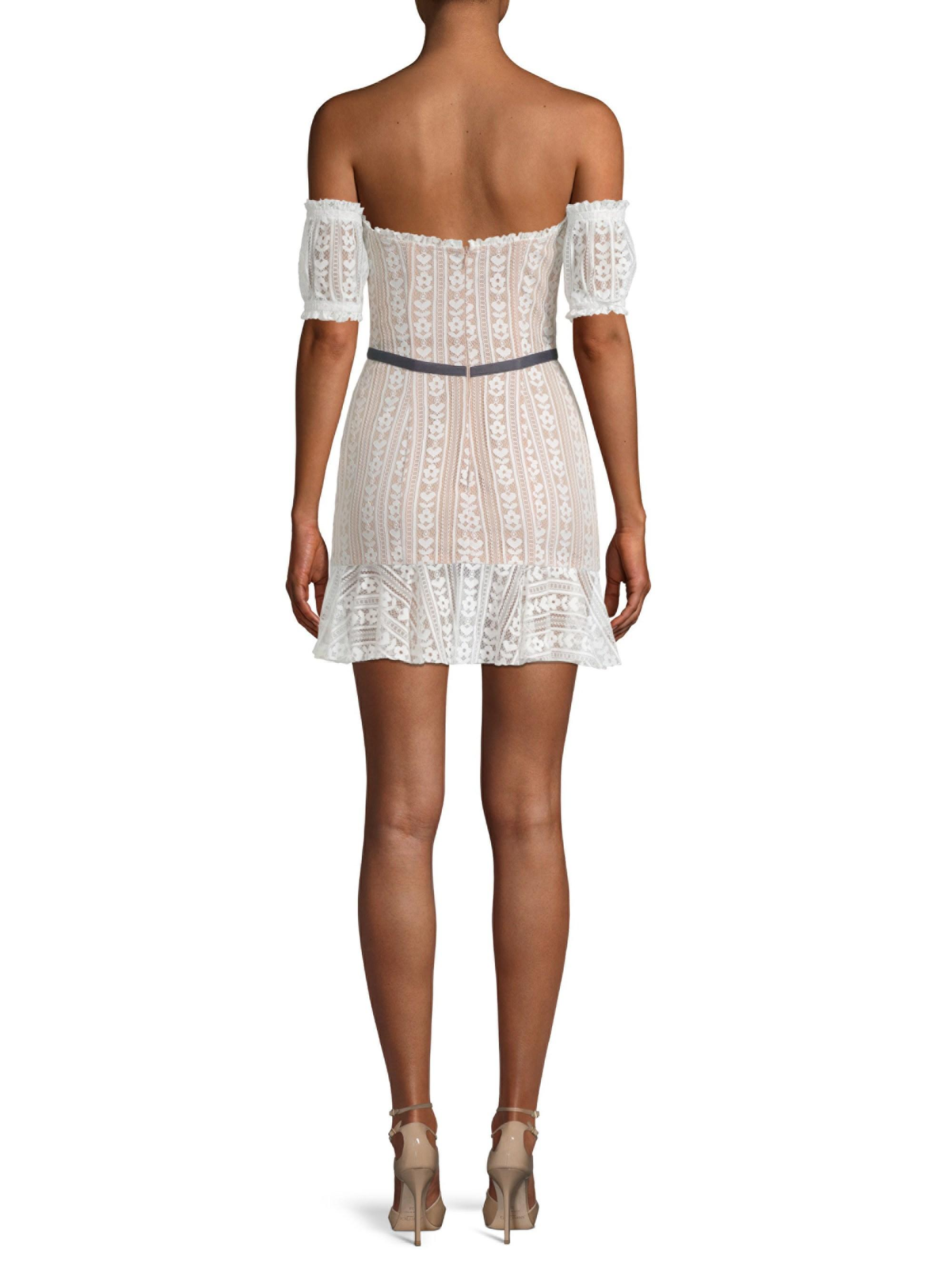 Dakota Lace Off The Shoulder Mini Dress