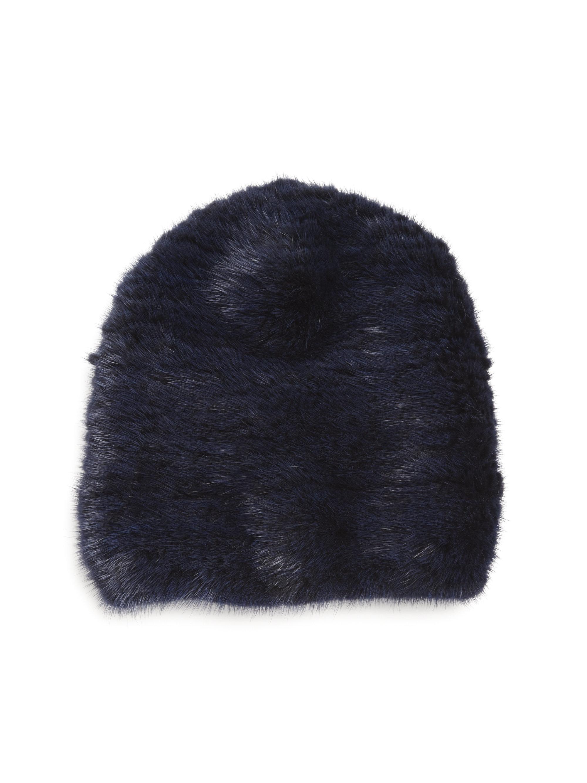 Womens Mink & Fox Fur Knit Beanie Barneys New York FvIZ3SxU