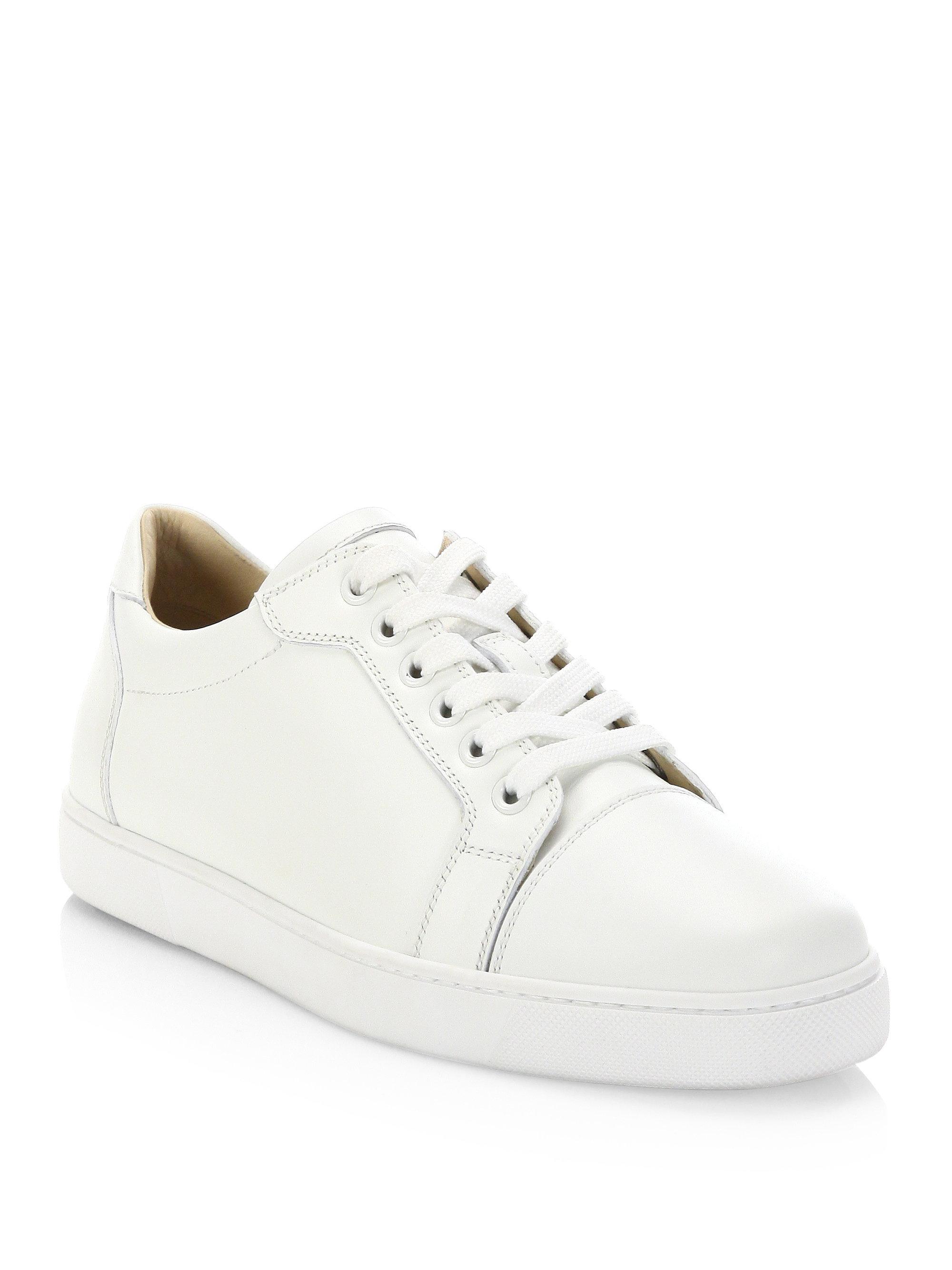 Vieira white leather sneakers Christian Louboutin rxVWt71