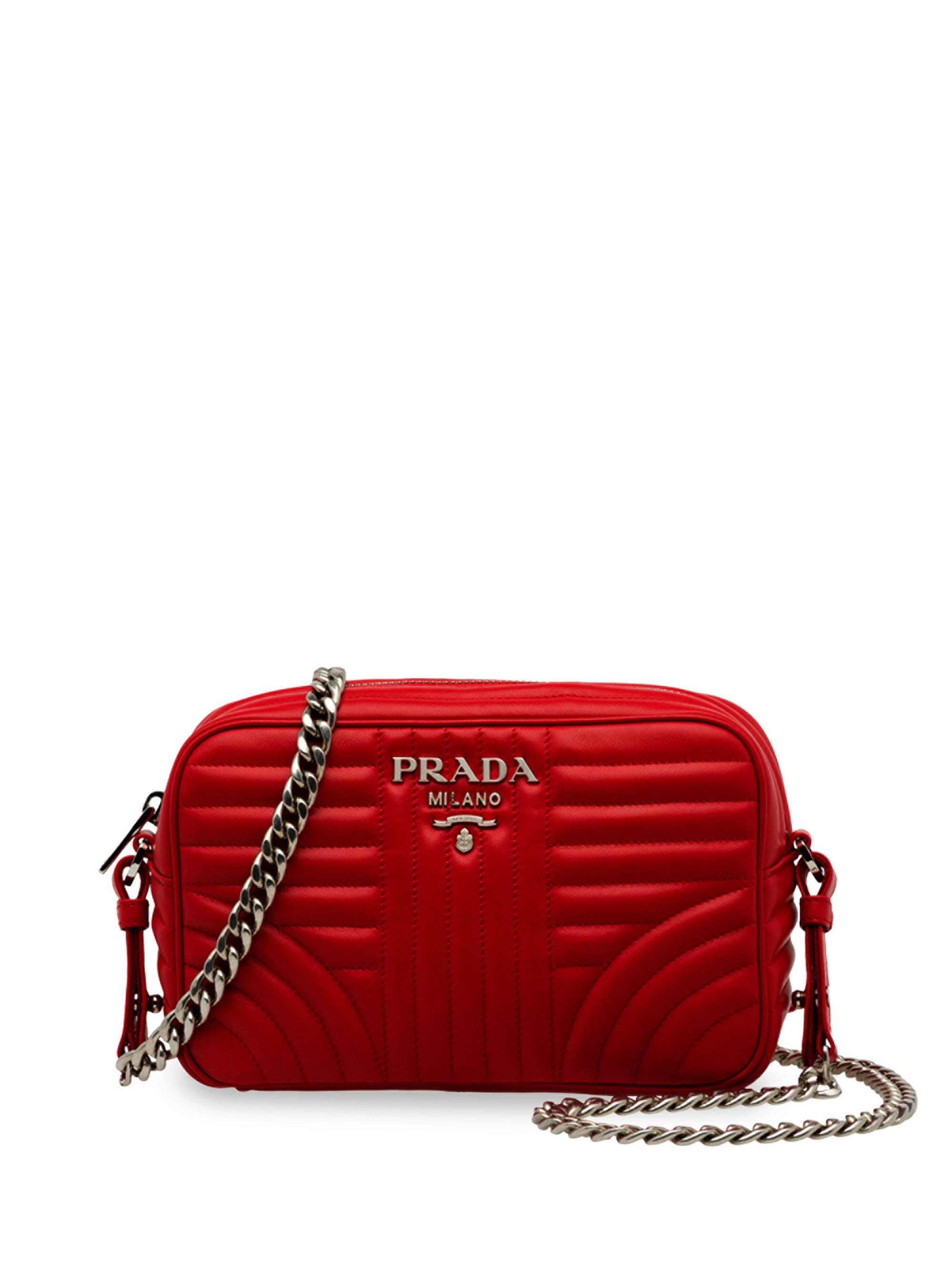 e875d9ca9bc2 ... france prada diagramme leather camera bag in red lyst e1bdf 53278