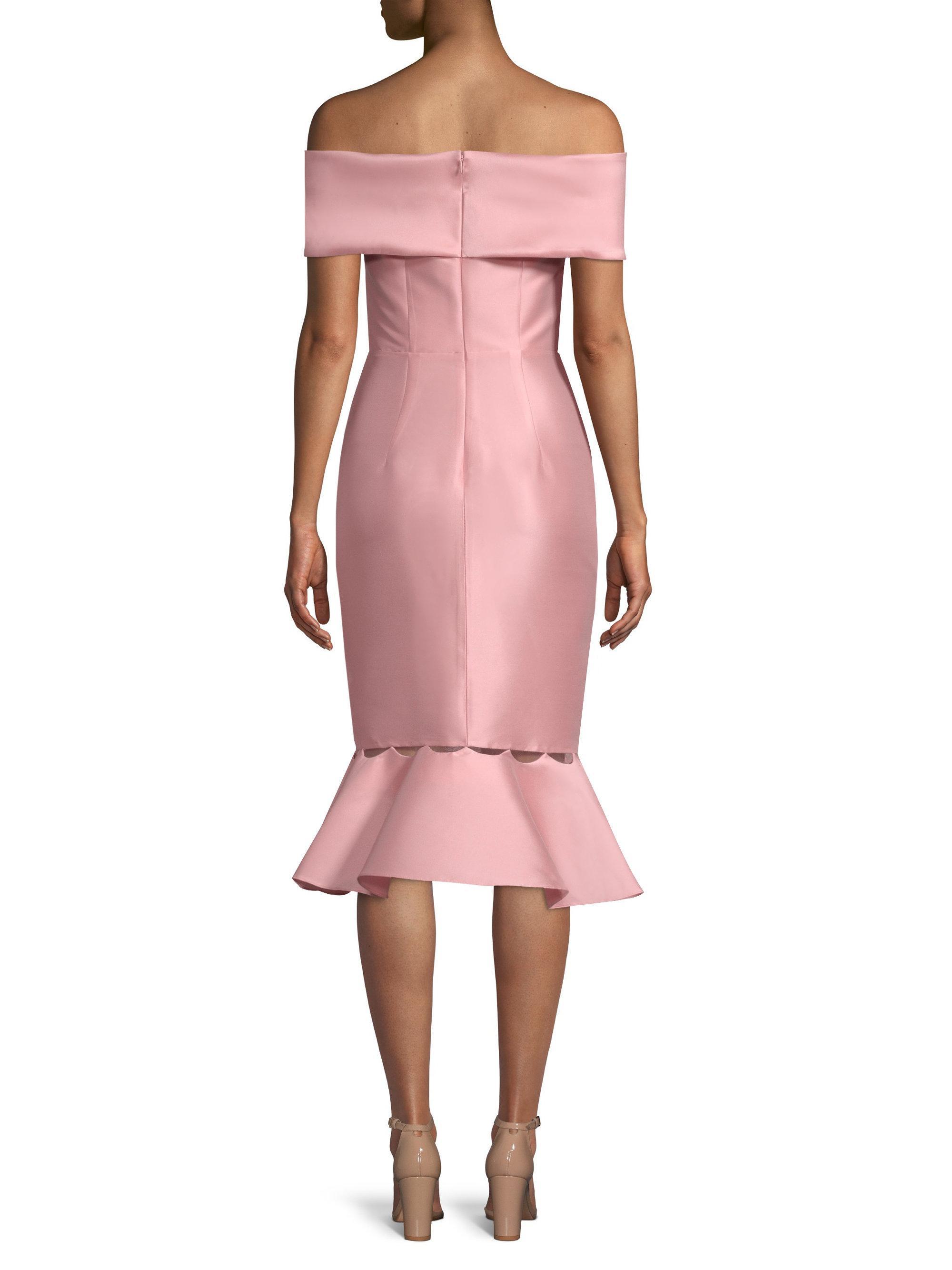 Lyst - Sachin & Babi Hazel Off-shoulder Sheath Dress in Pink