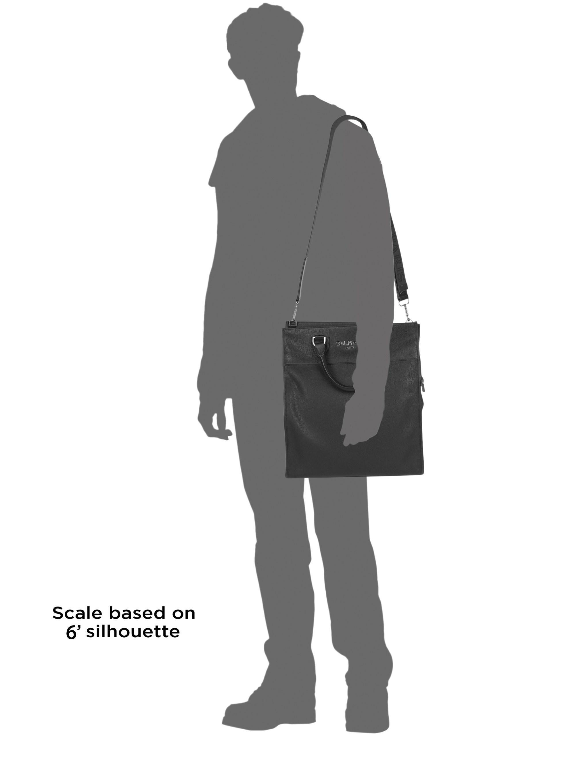 Balmain - Black Grained Leather Tote Bag for Men - Lyst. View fullscreen 30c204f2b8