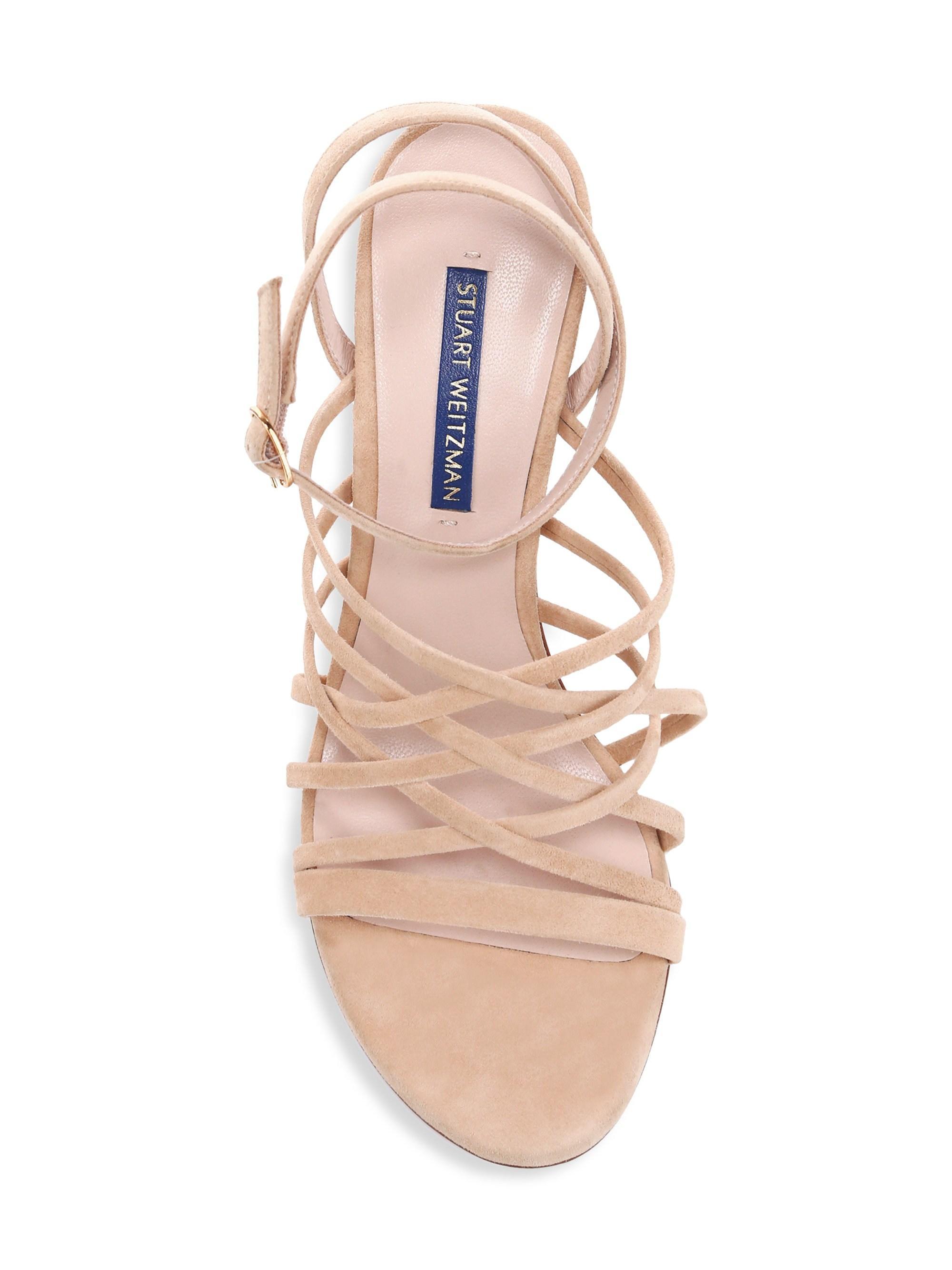 a42330be90fad Stuart Weitzman Multicolor Spotlight Suede Sandals. View fullscreen