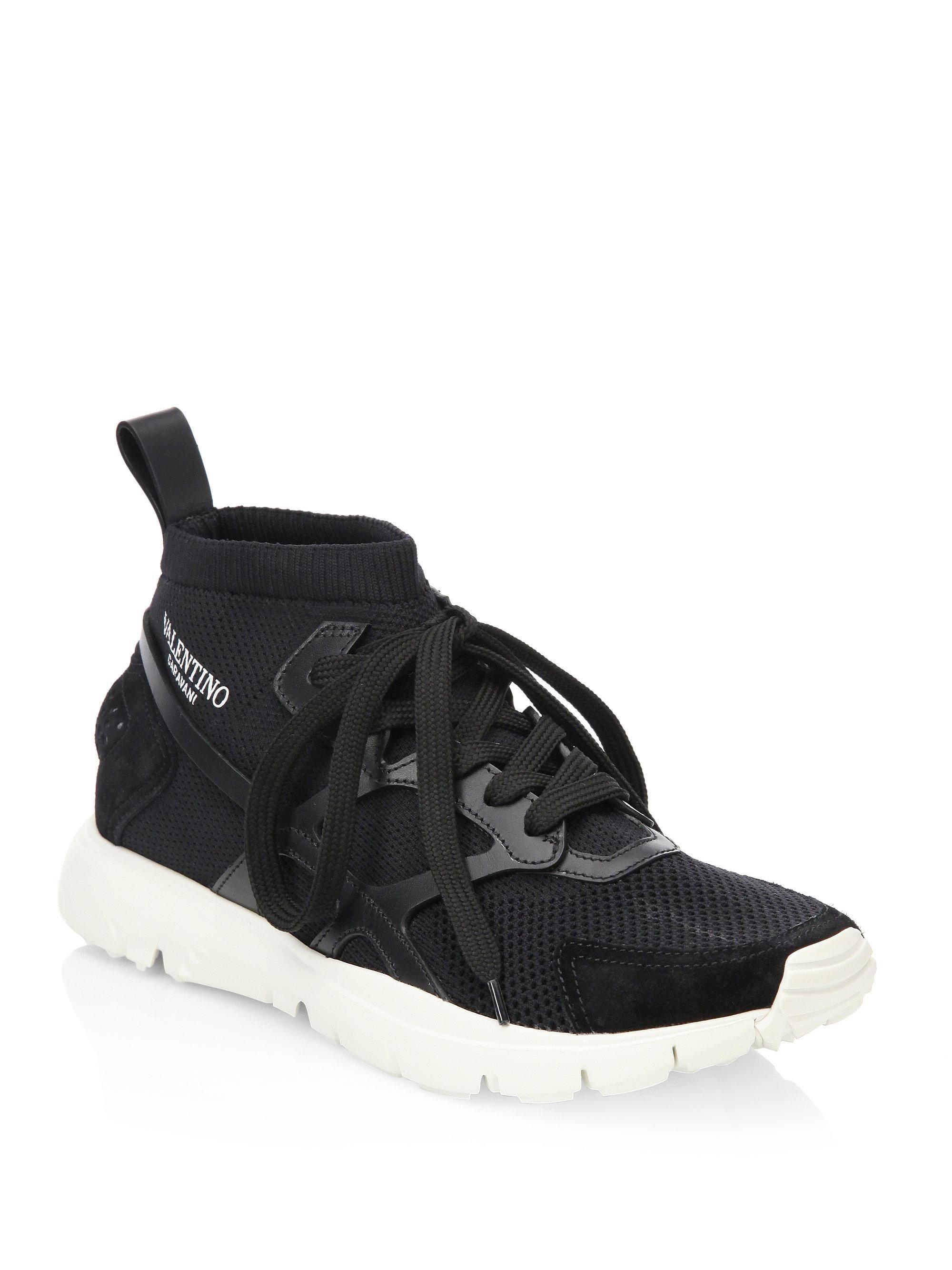 ValentinoMesh Low Sock Sneakers 17yR28JsS