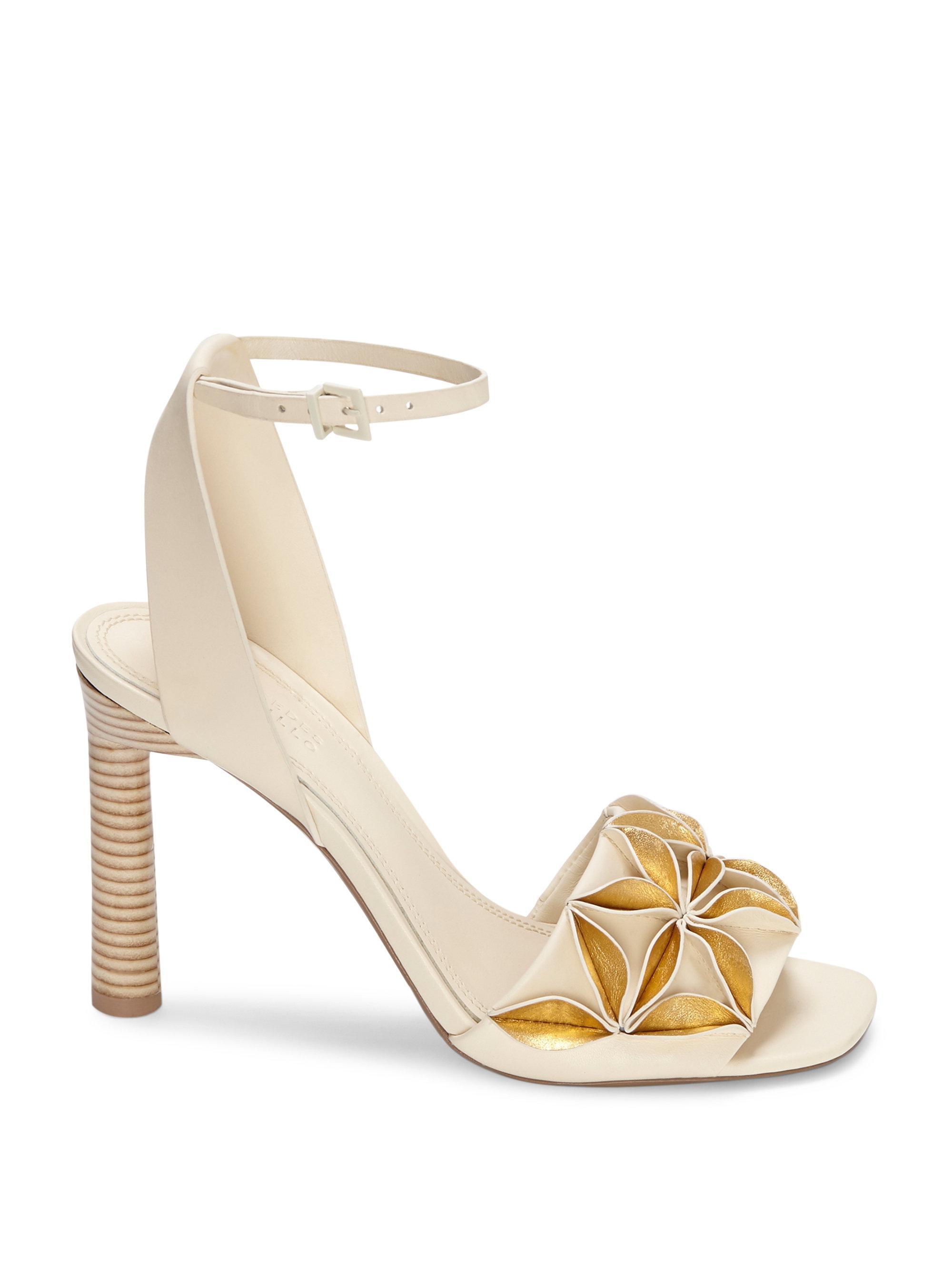 Mercedes Castillo Milee Ivory & Gold Sandals w2GFlzNhh7