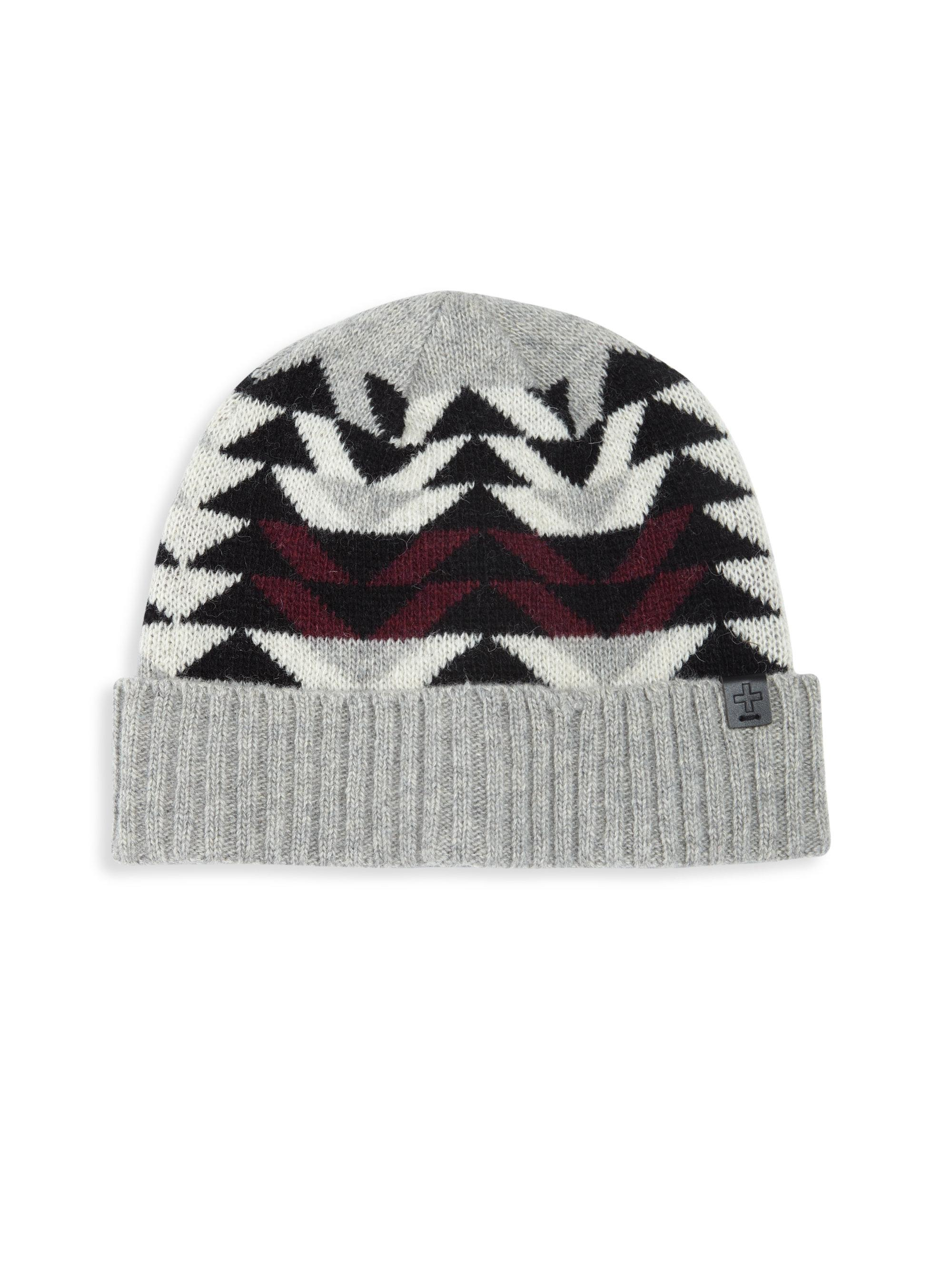 866e7dae147 Bickley + Mitchell Lambswool Blend Colorblock Knit Beanie in Gray ...