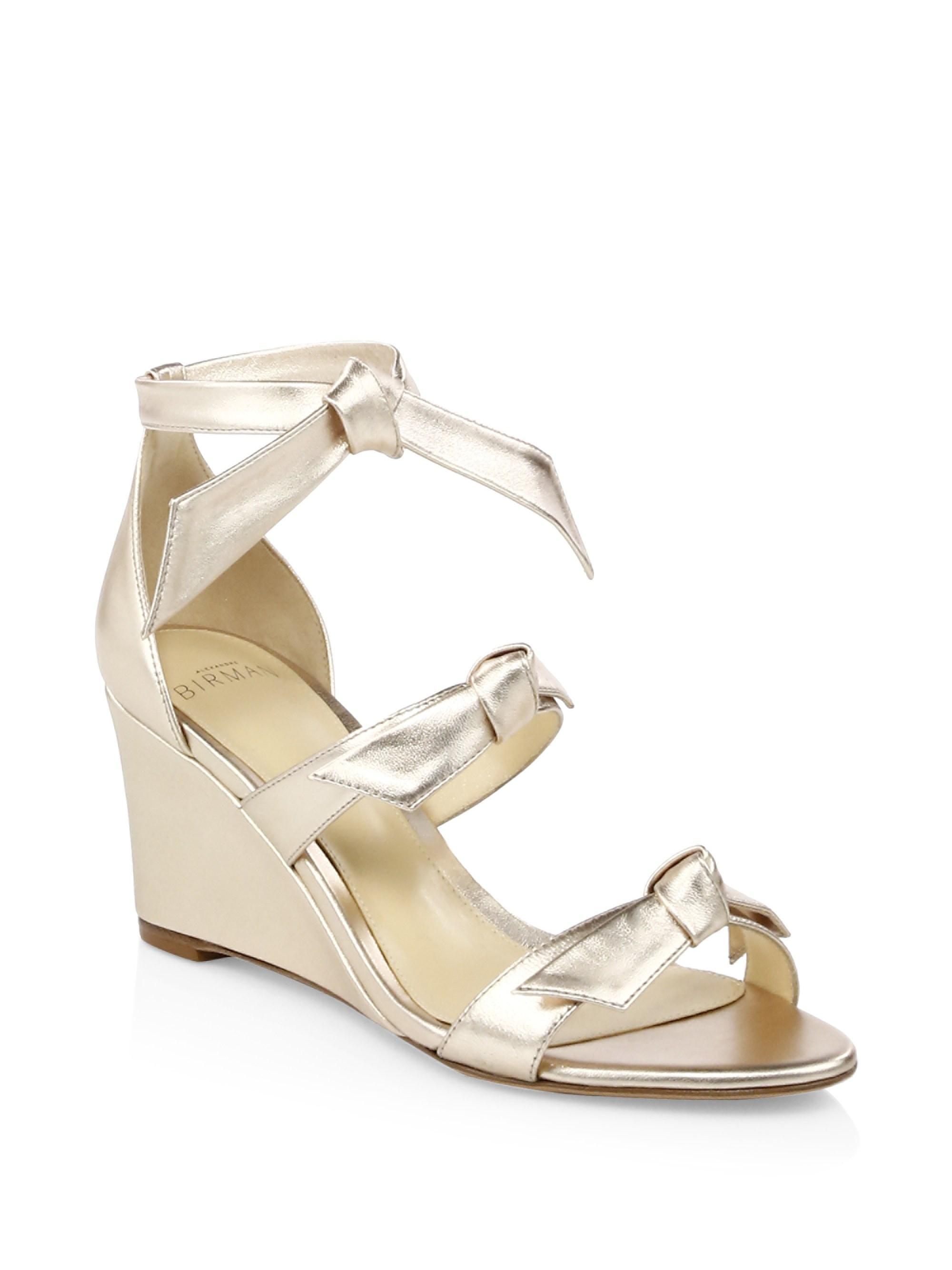 68f030d69ca1 Lyst - Alexandre Birman Golden Lolita Wedge in Metallic