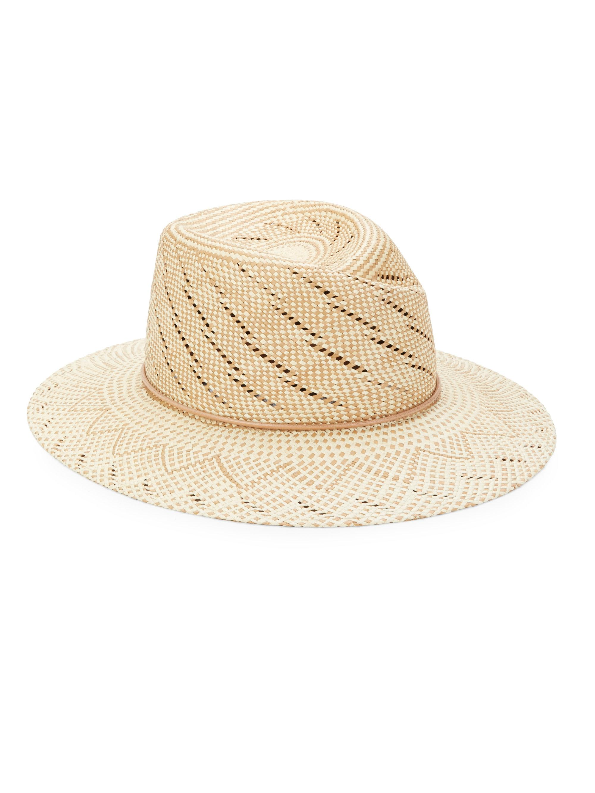 07bdbdf0a36 Rag   Bone Zoe Straw Hat in Natural - Lyst