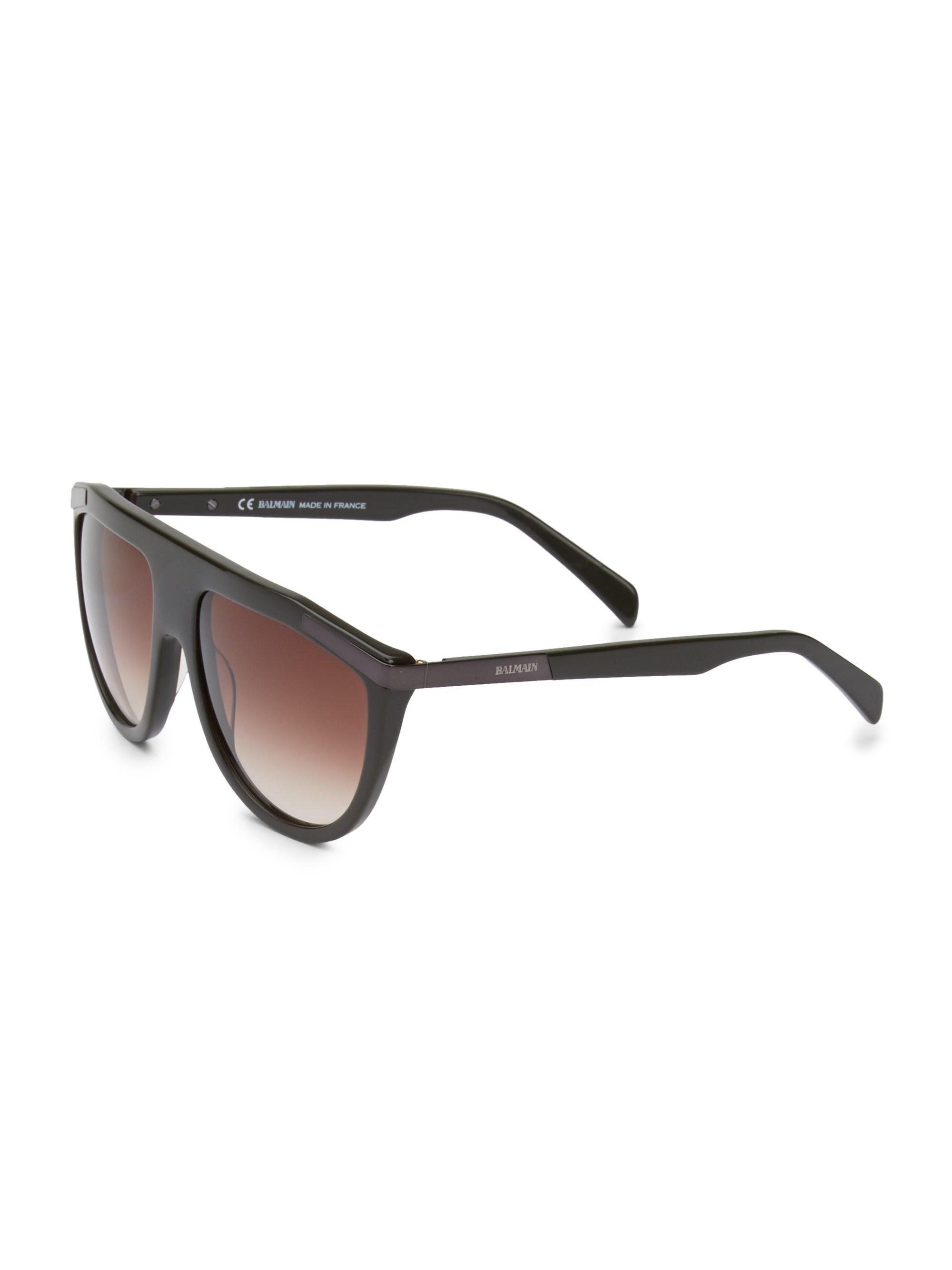 eaef91f63645 Balmain - Multicolor Men's 57mm Aviator Sunglasses - Khaki for Men - Lyst.  View fullscreen