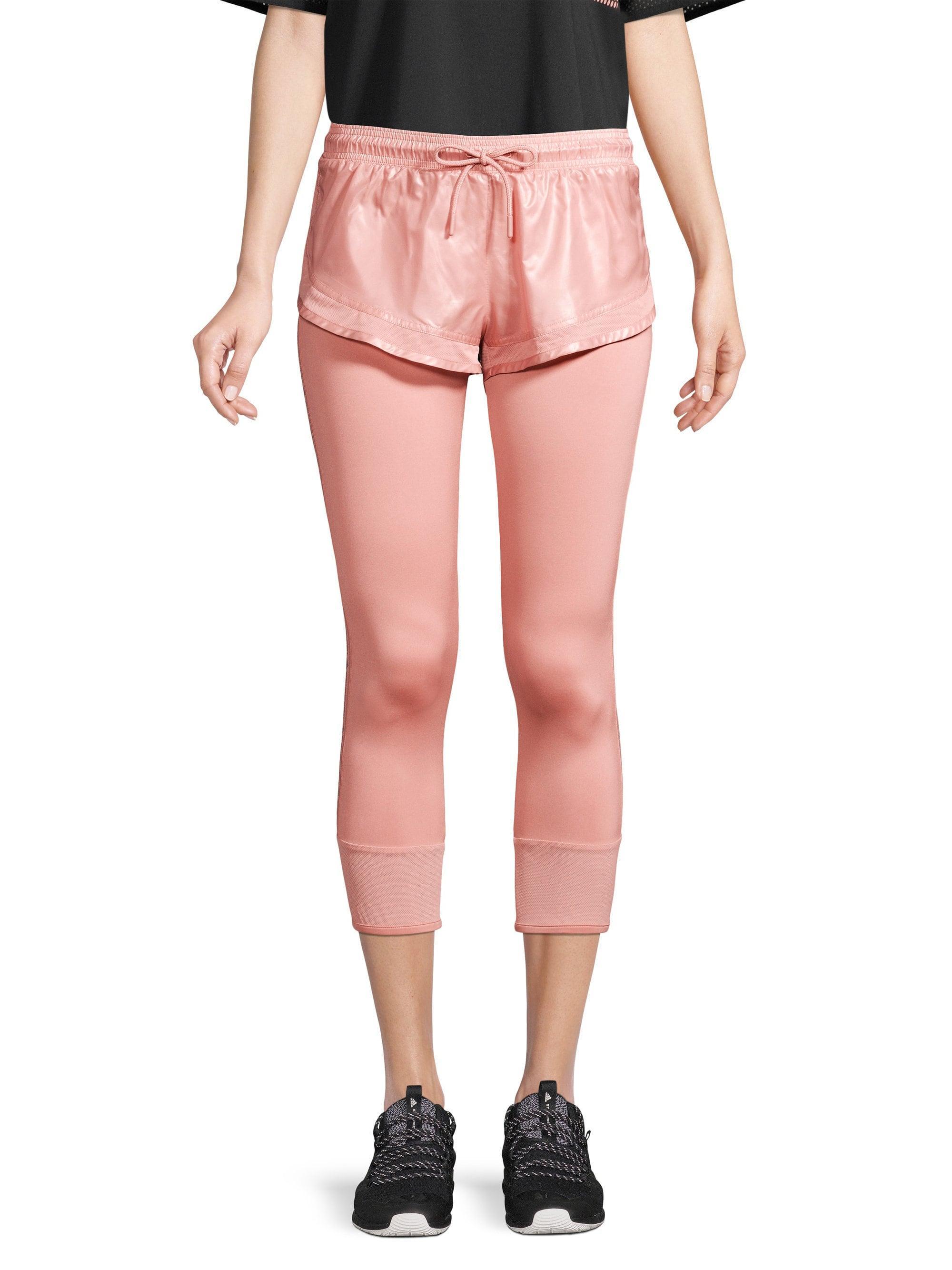 38d61b1ff398f3 adidas By Stella McCartney Layered Logo Leggings in Pink - Lyst