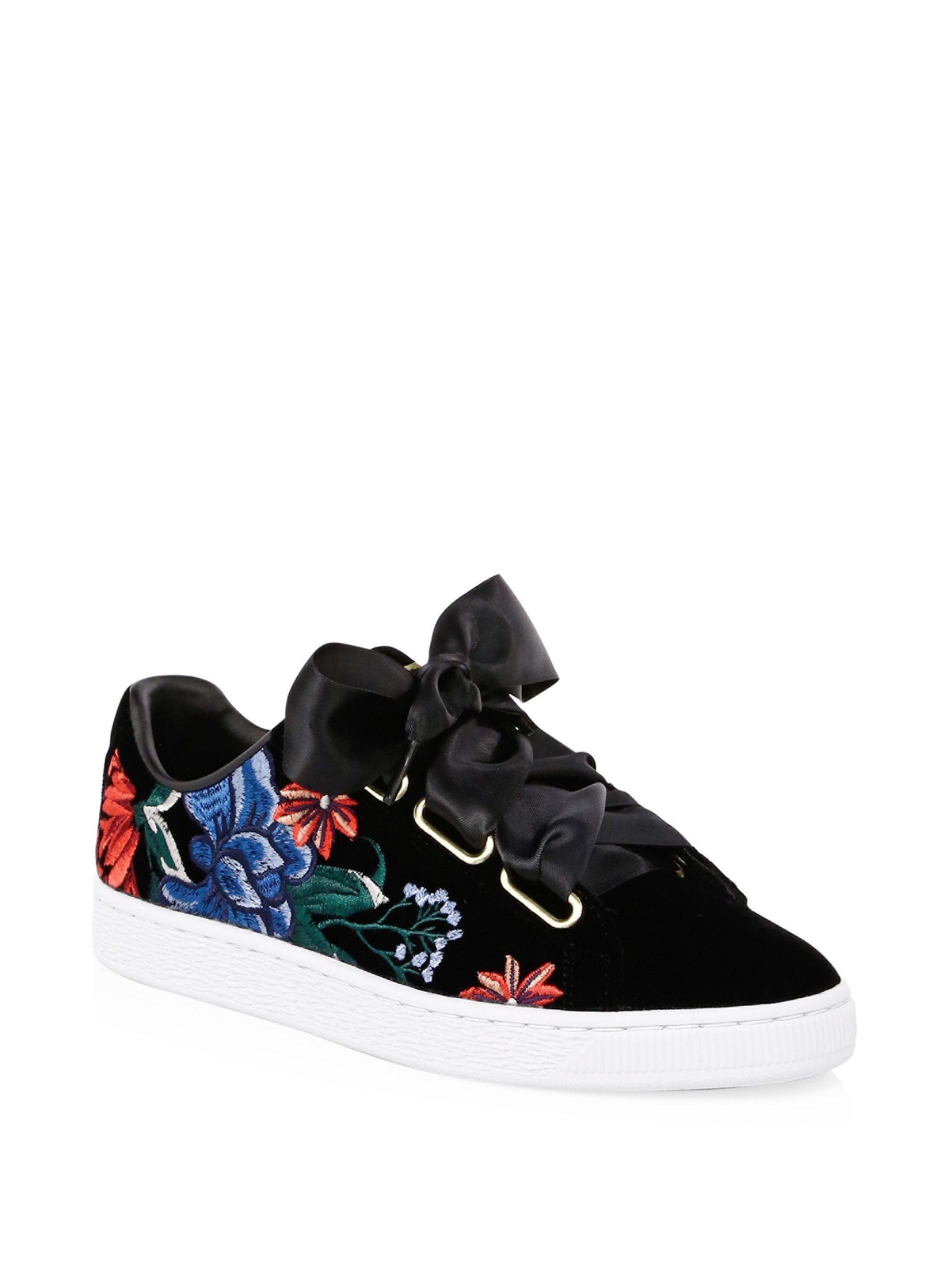 puma shoes flower 022623