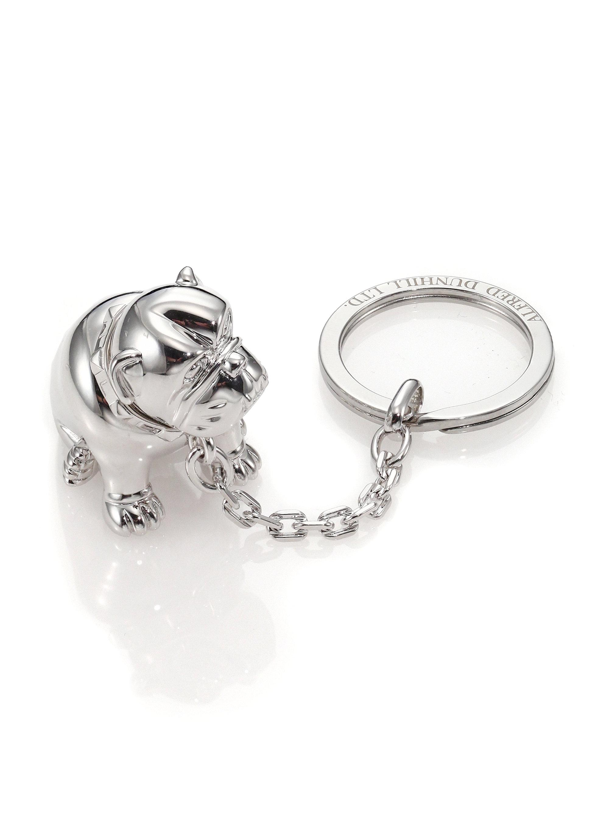 9c51bd71899 Dunhill Palladium-plated Bulldog Key Chain With Rotating Detail in ...