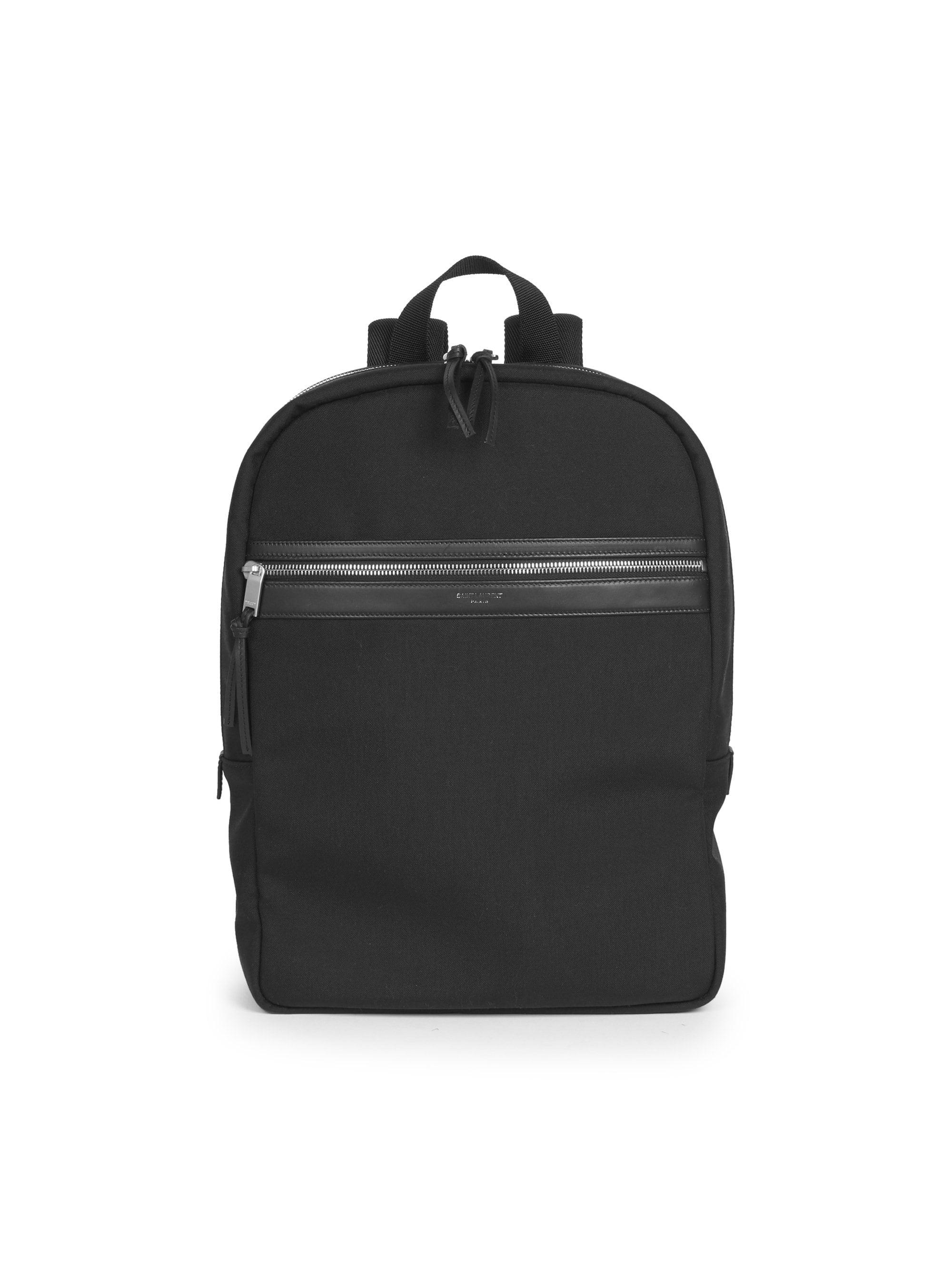 84232a2b4 Lyst - Saint Laurent Classic Zip Canvas Backpack in Black for Men