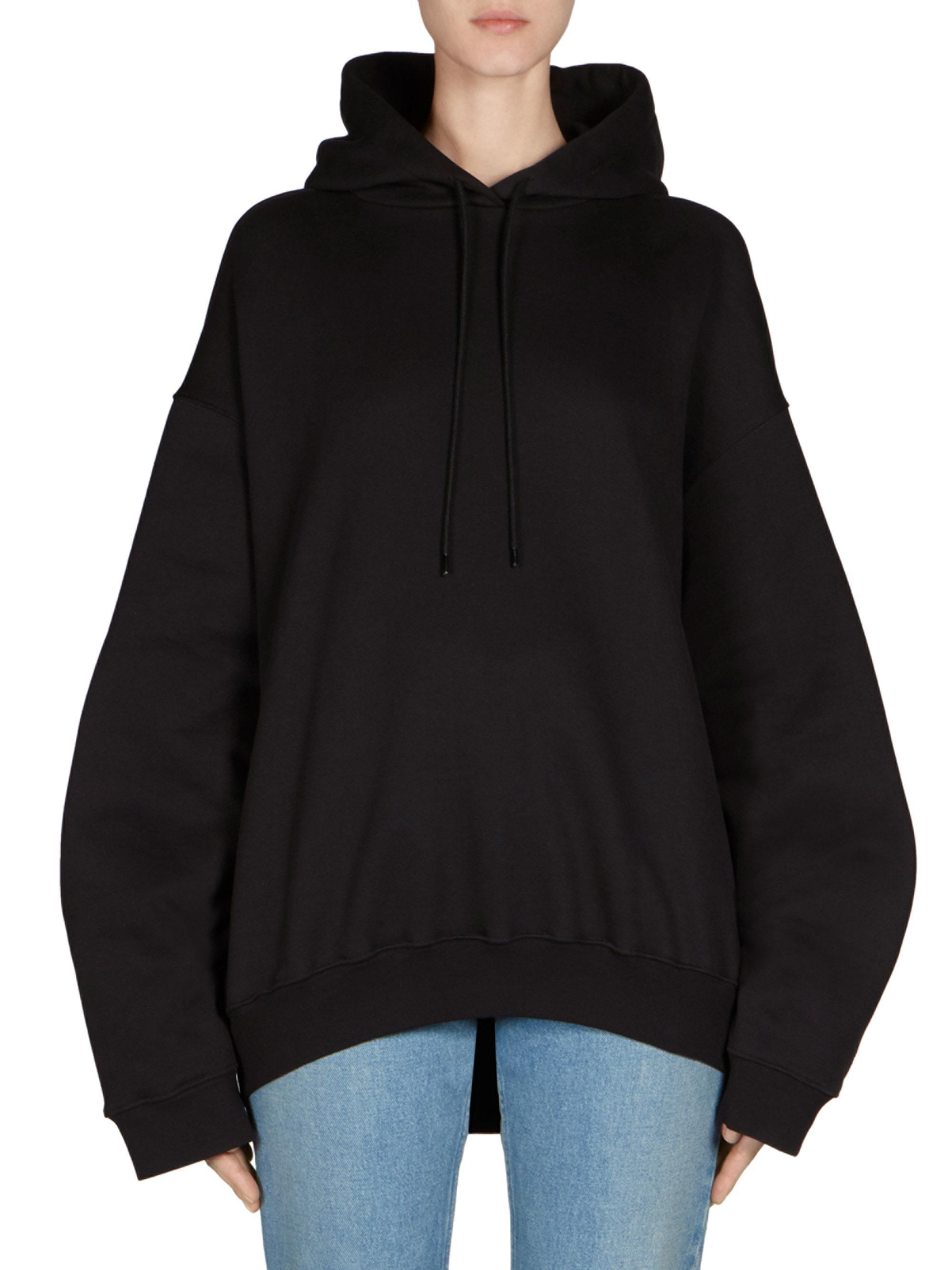 back of hoodie