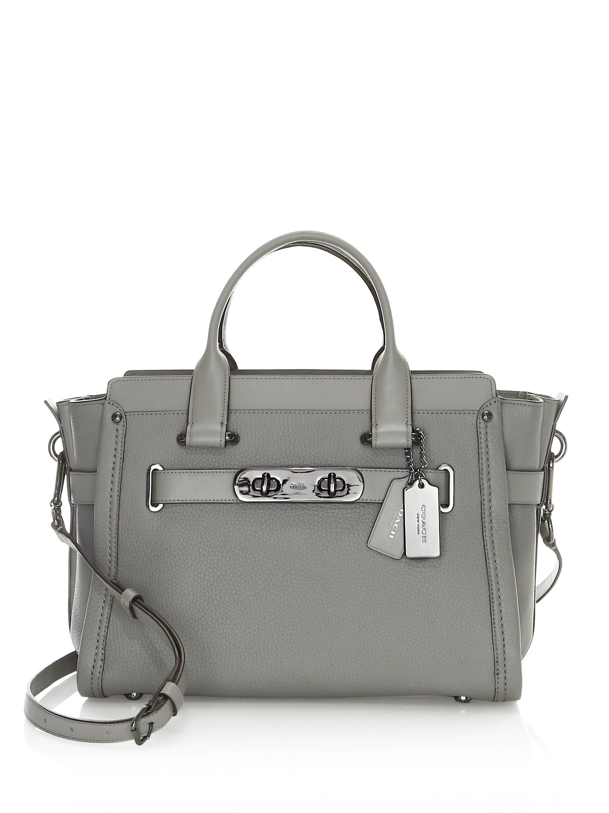 f510026bf983 Lyst - Coach Swagger Satchel in Gray