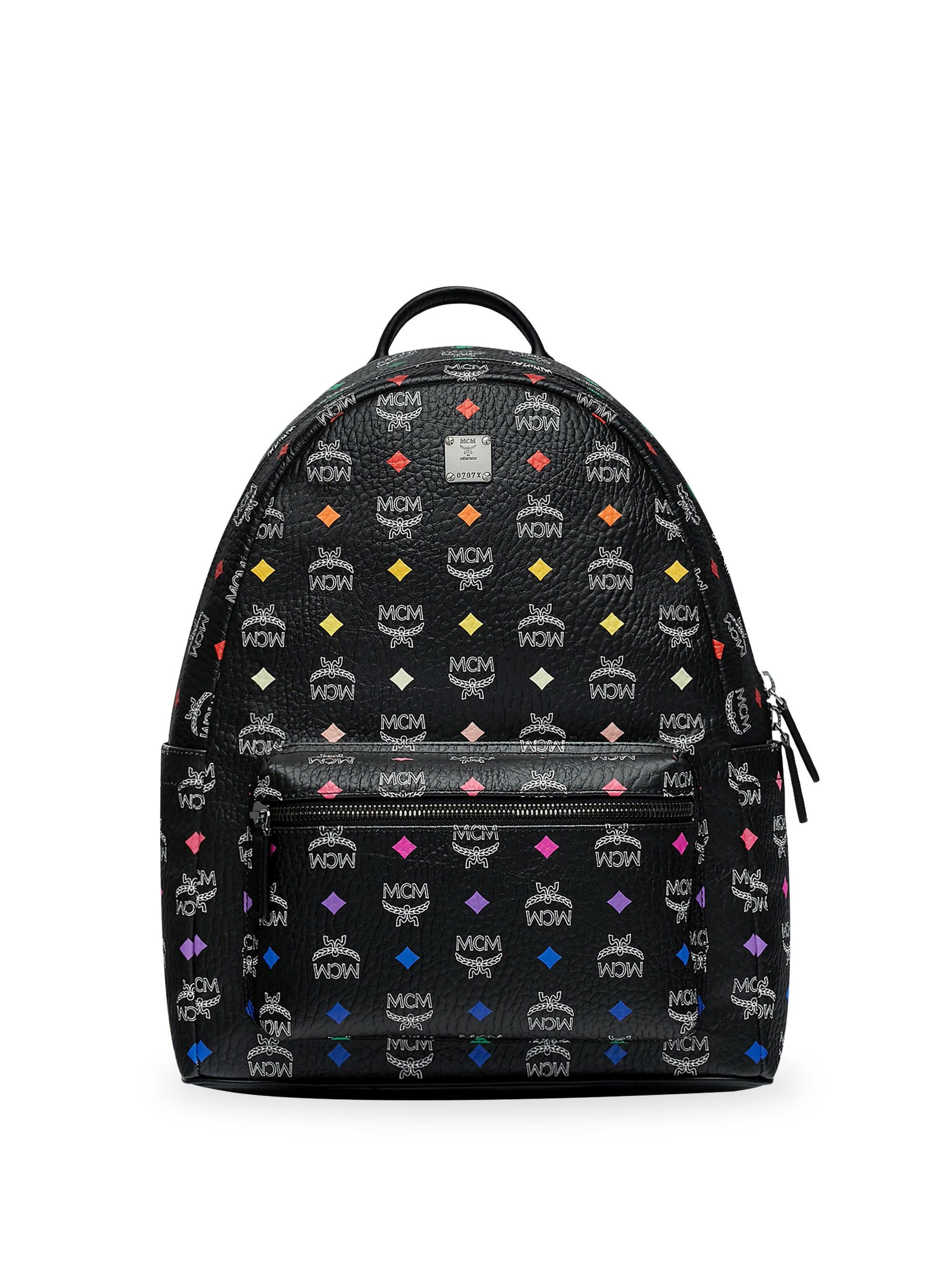 a7d16a8ad58 MCM - Black Stark Backpack In Skyoptic Stud Visetos for Men - Lyst. View  fullscreen