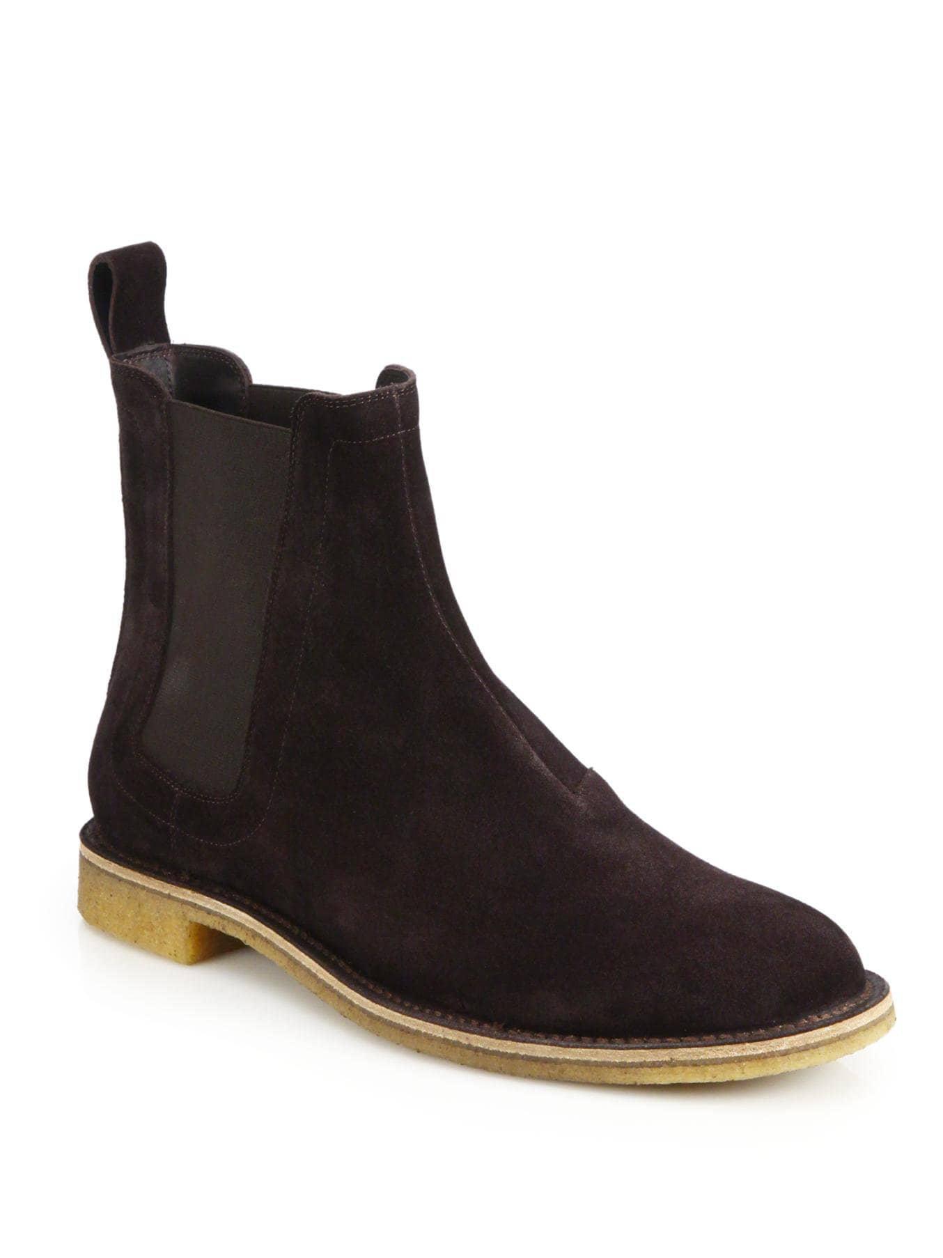acaa23877b8c Bottega Veneta Men s Aussie Suede Chelsea Boots - Espresso - Size 46 ...