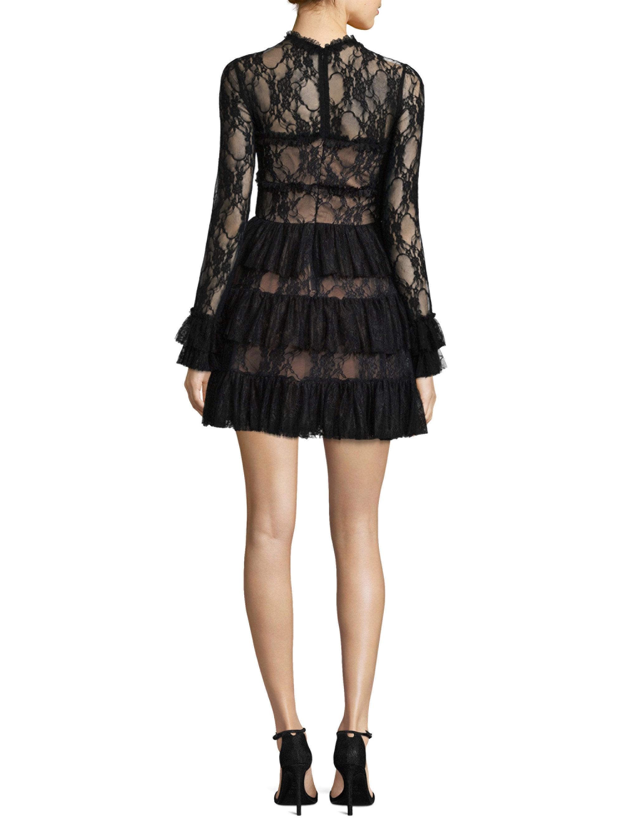 Tiered Lace Dress
