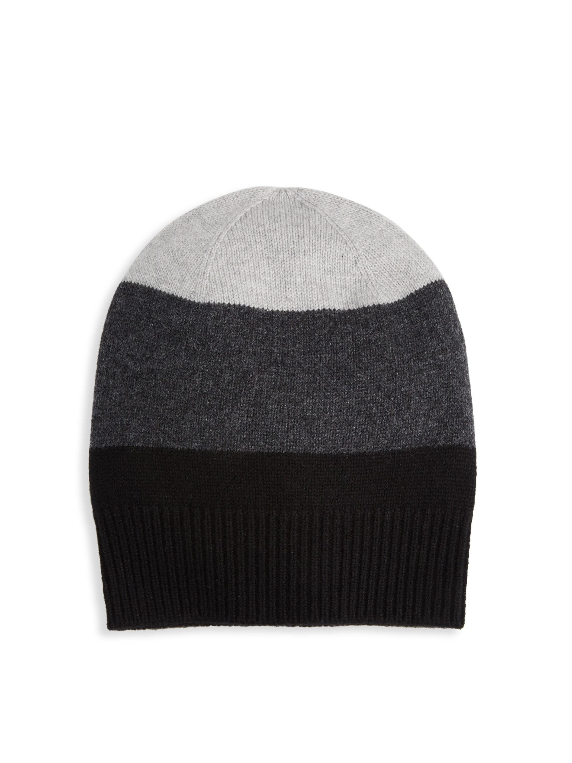 4956d175146a4 Saks Fifth Avenue Collection Cashmere Ombre Stripe Hat in Gray for ...