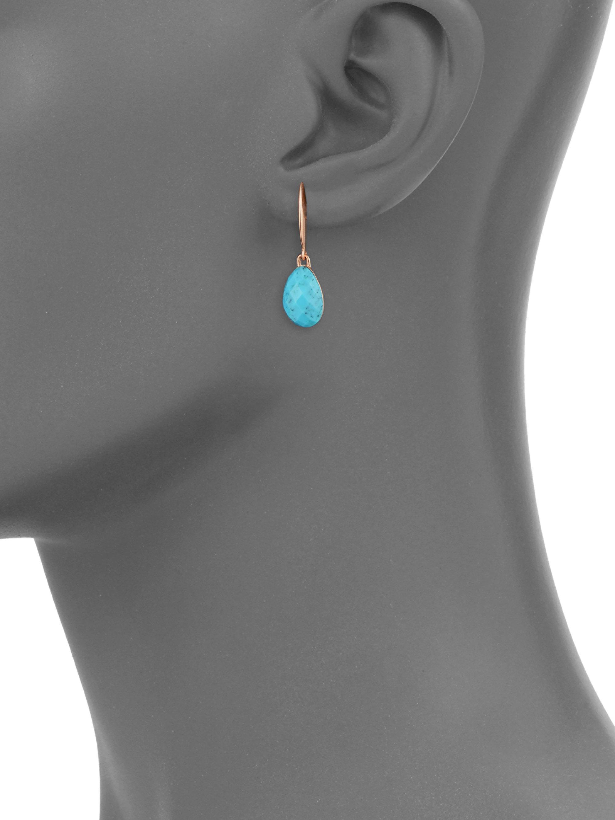 36f7dbfd60bae Monica Vinader Blue Nura Small Turquoise Teardrop Earrings