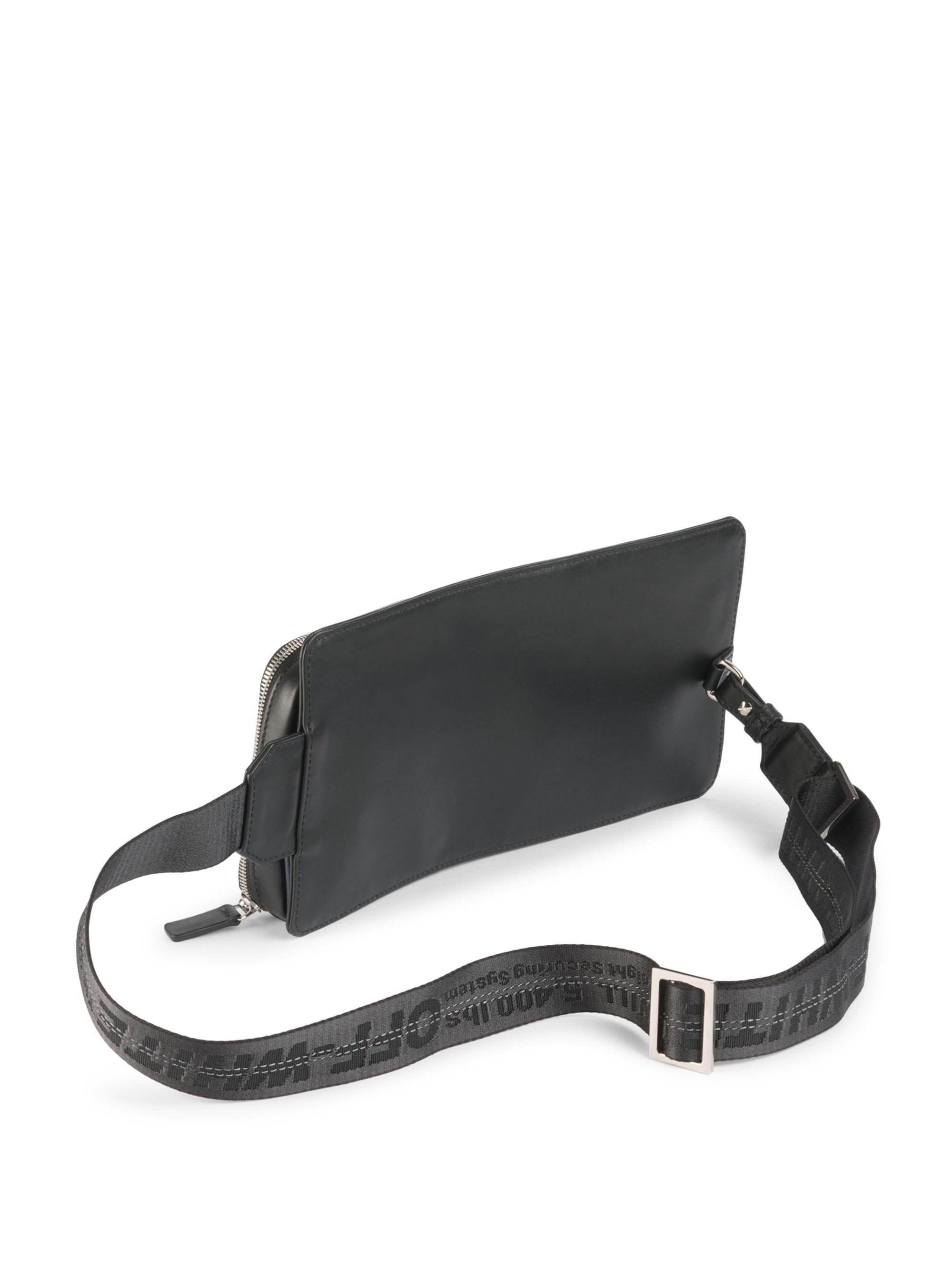 98fa21405ebb Lyst - Off-White c o Virgil Abloh Logo Leather Belt Bag in Black for Men