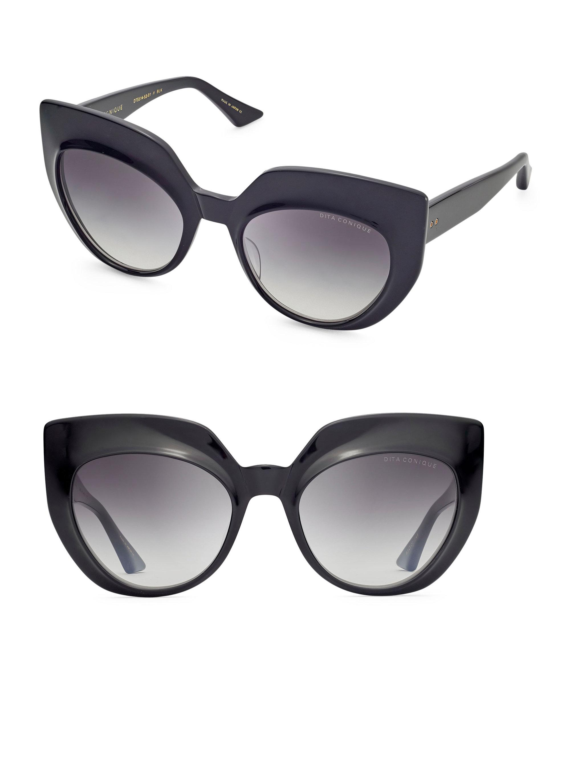 075d584d20c Lyst - Dita Eyewear Conique 53mm Cat-eye Sunglasses in Black