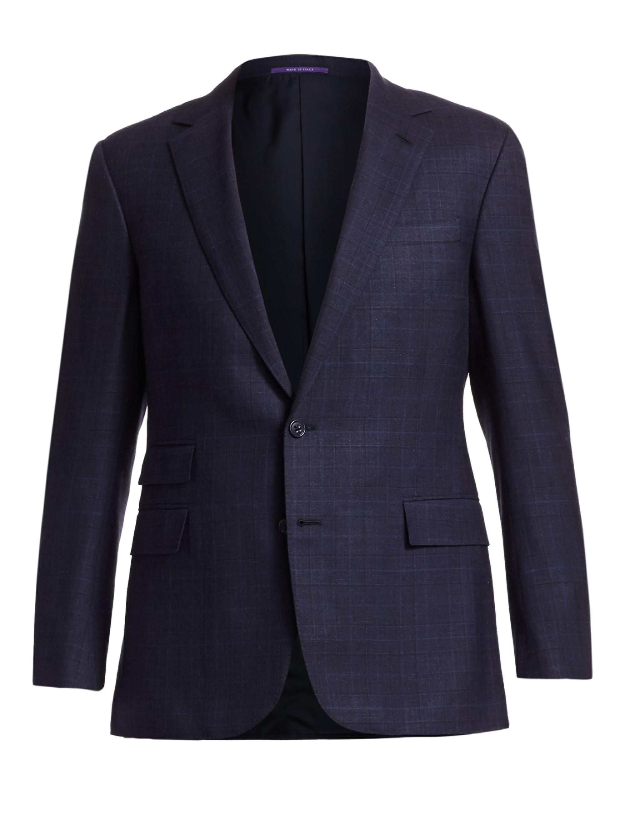 d9864b2fda11 Lyst - Ralph Lauren Purple Label Douglas Two-button Jacquard Wool ...