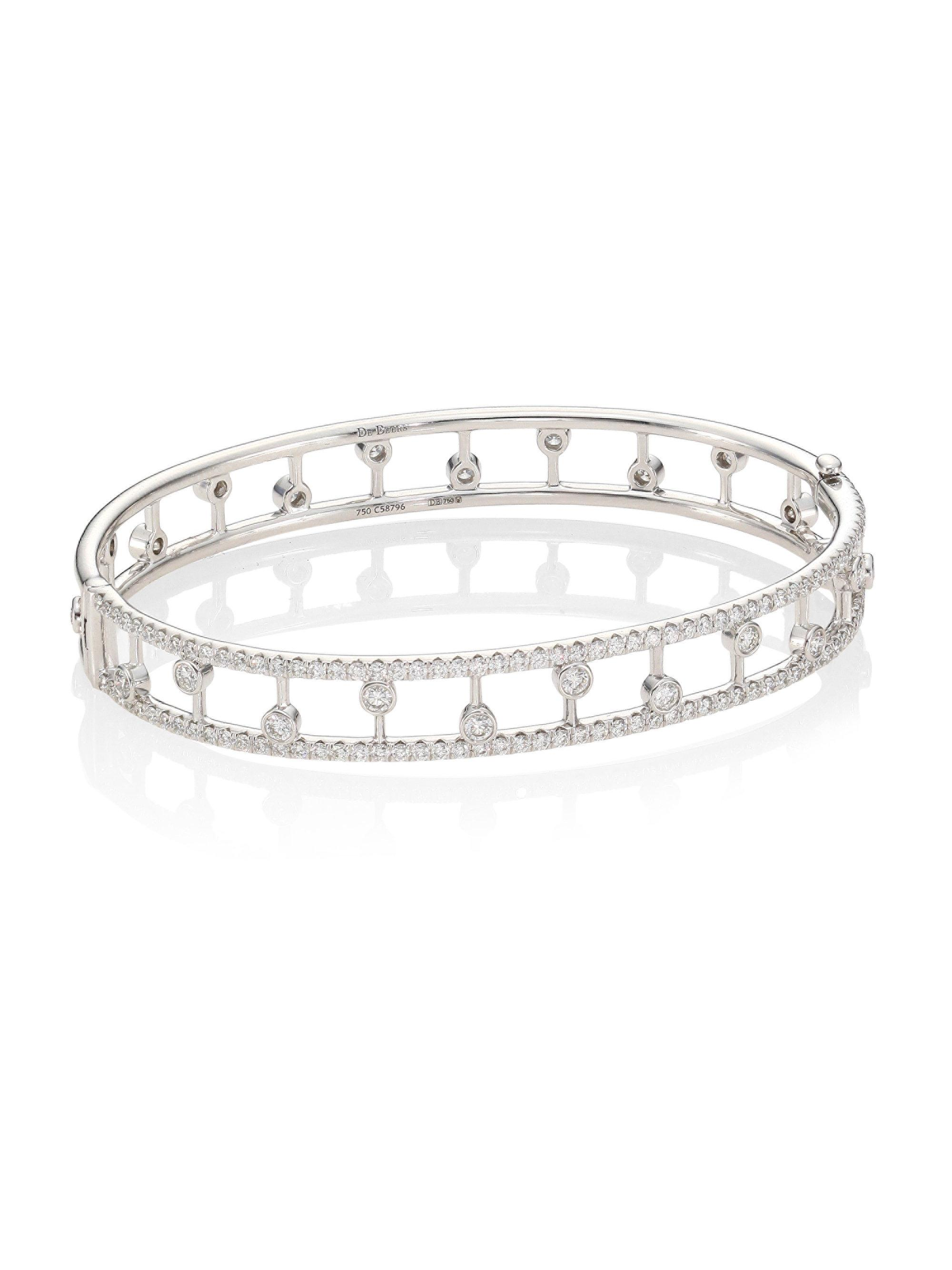 hulchi fidget single pave white moveable ww stackable products with bracelet diamond bangles belluni station bangle gold stretch