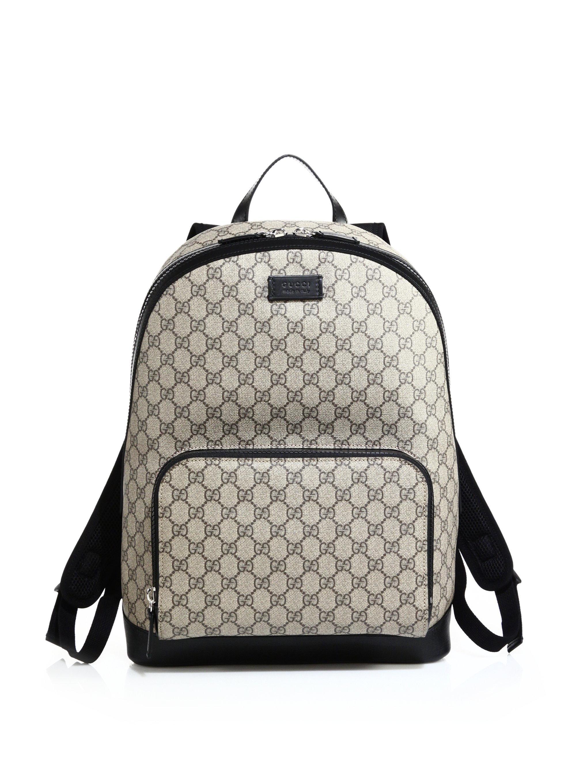c861c9a815b Gg Supreme Canvas Backpack Beige - Motorslist