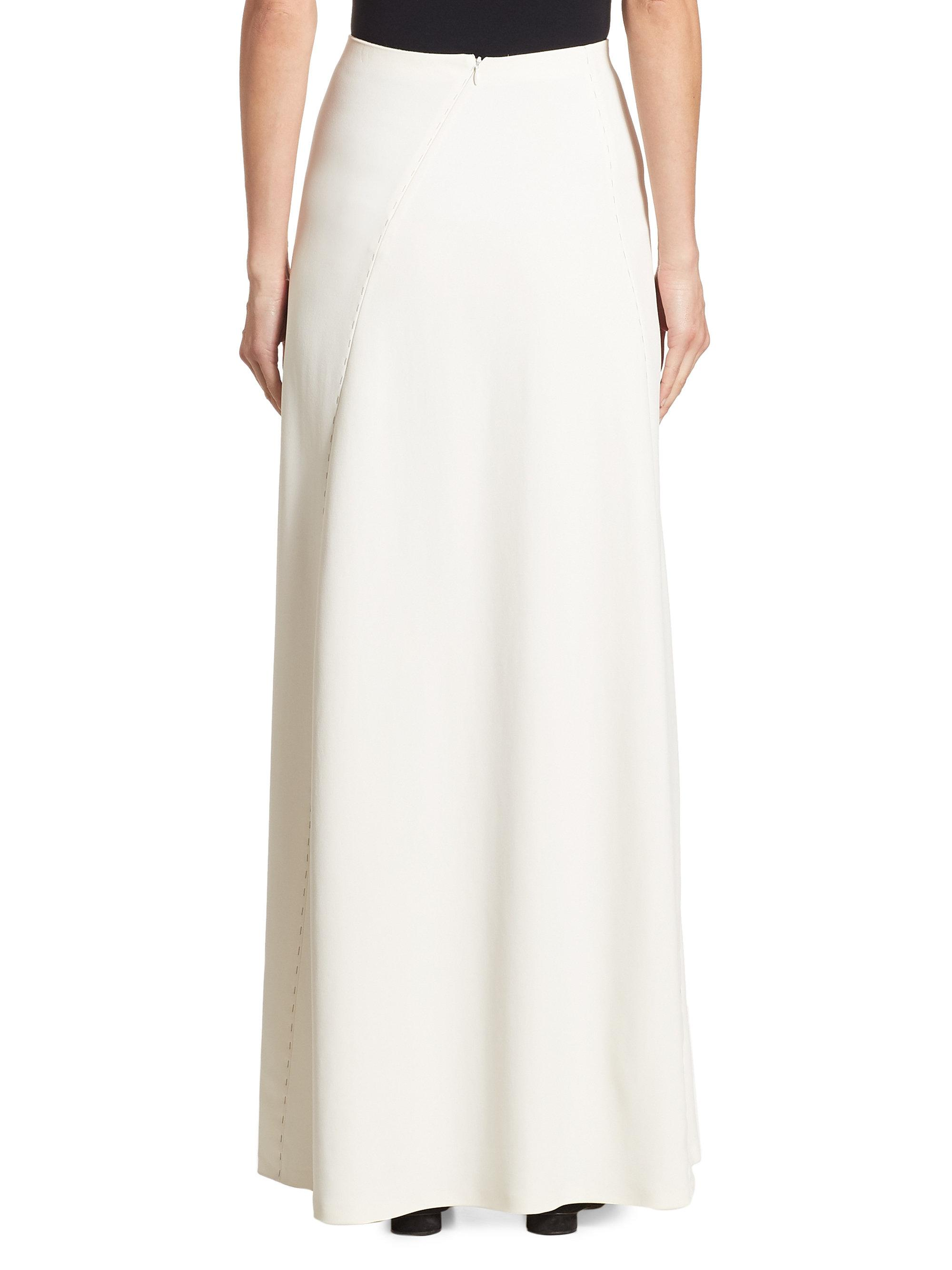 66bb32ab42a The Row Farrow Skirt in White - Lyst